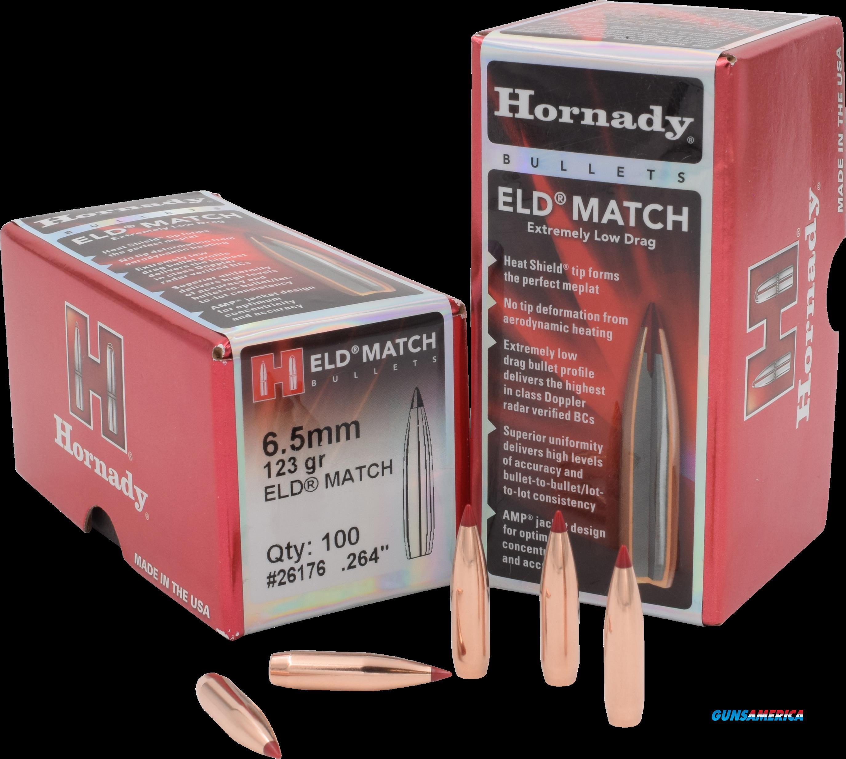Hornady Eld Match, Horn 26176 Bull .264 123 Eld Match 100  Guns > Pistols > 1911 Pistol Copies (non-Colt)