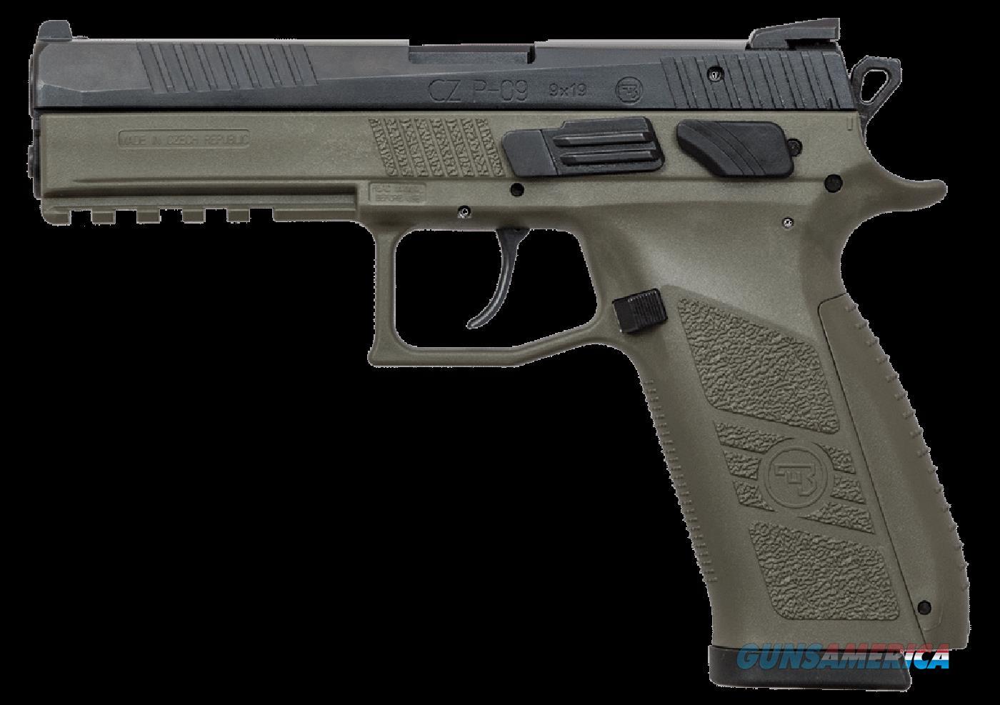 Cz P-09, Cz 01268 P09 9mm Ns Odg-blk                   10rd  Guns > Pistols > 1911 Pistol Copies (non-Colt)
