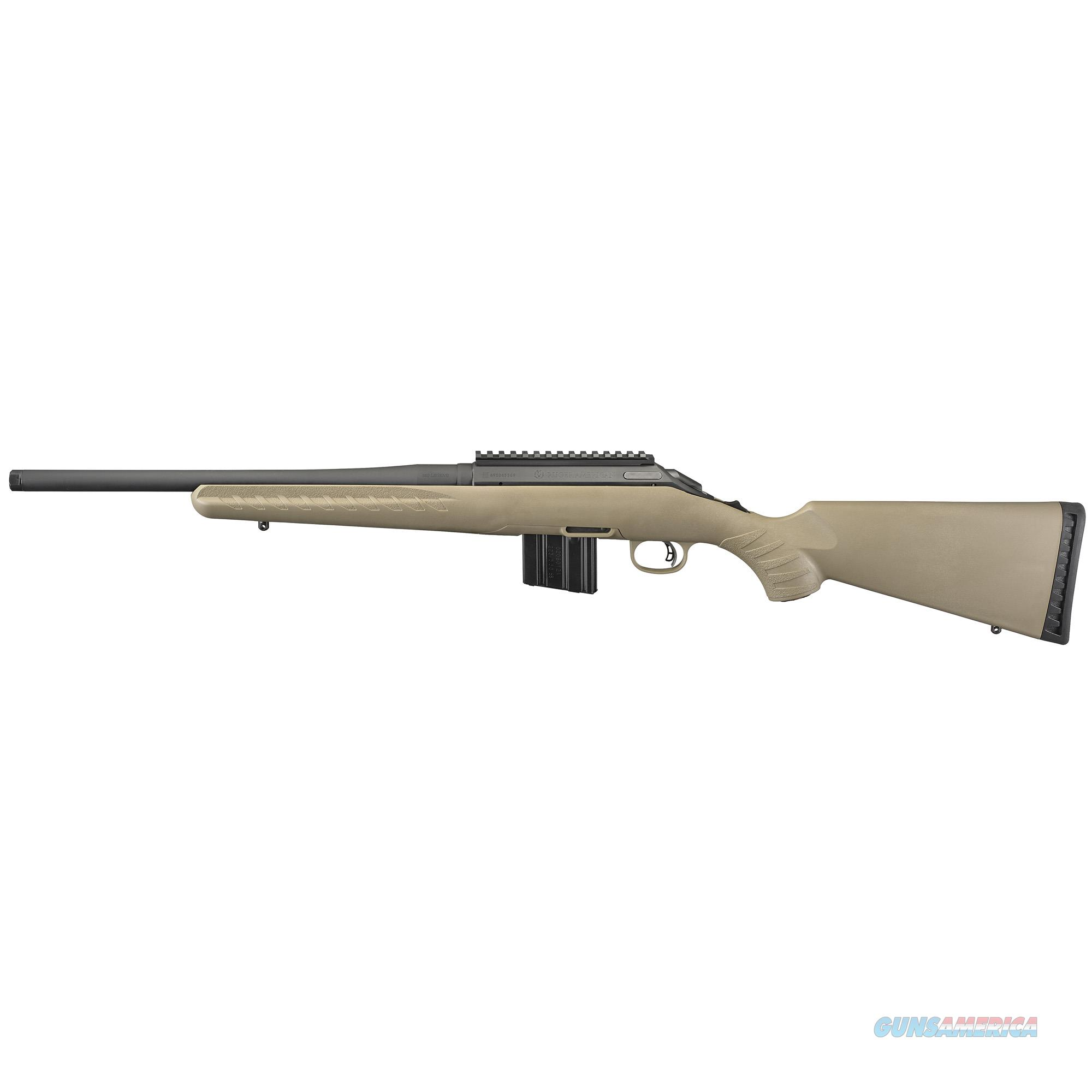 Ruger American Ranch, Rug 26981 Amer Rnch 350 Legend       Fde-blk  Guns > Pistols > 1911 Pistol Copies (non-Colt)