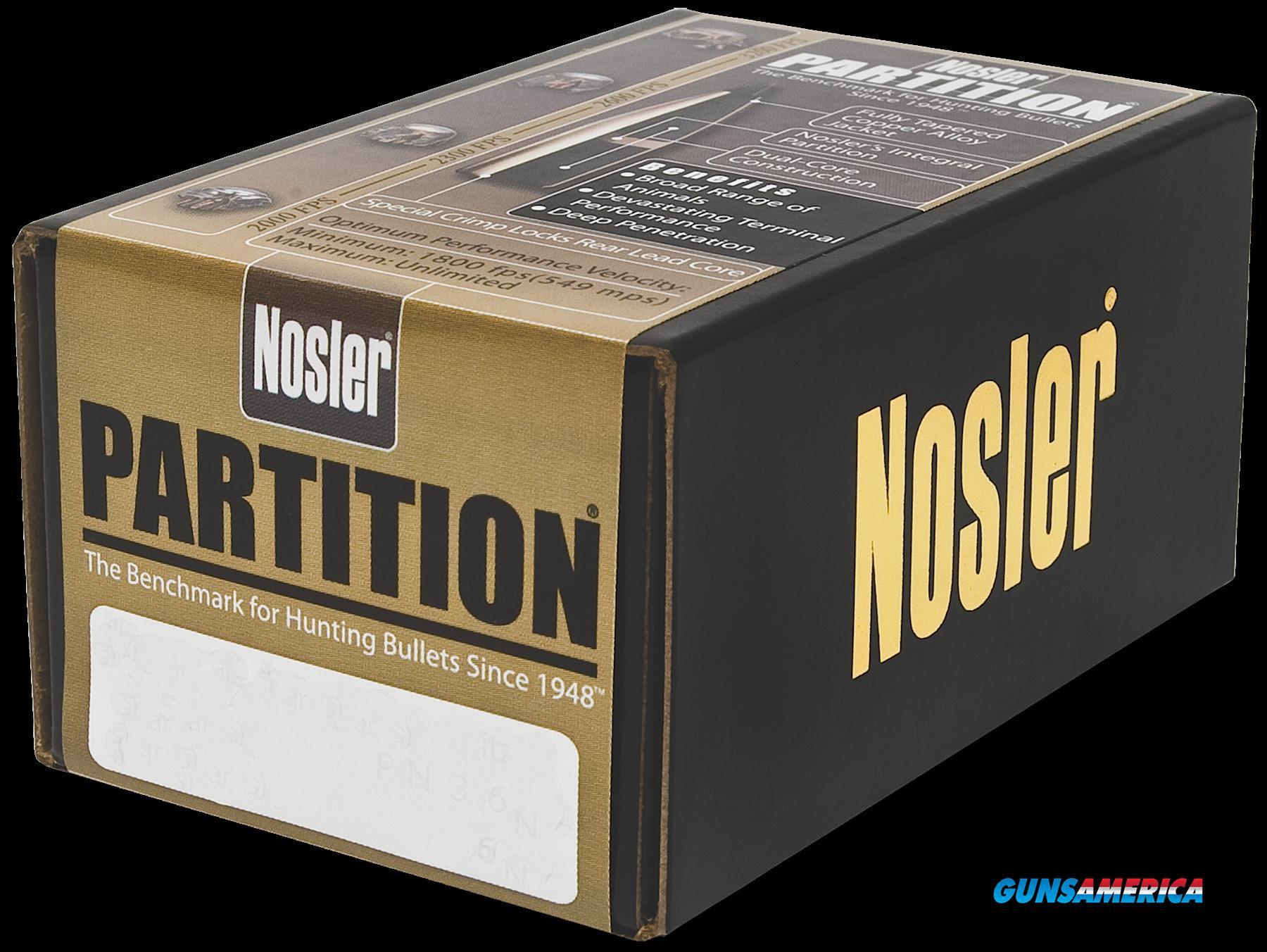 Nosler Partition, Nos 16331 Partition   30 180 Sptzr  50  Guns > Pistols > 1911 Pistol Copies (non-Colt)