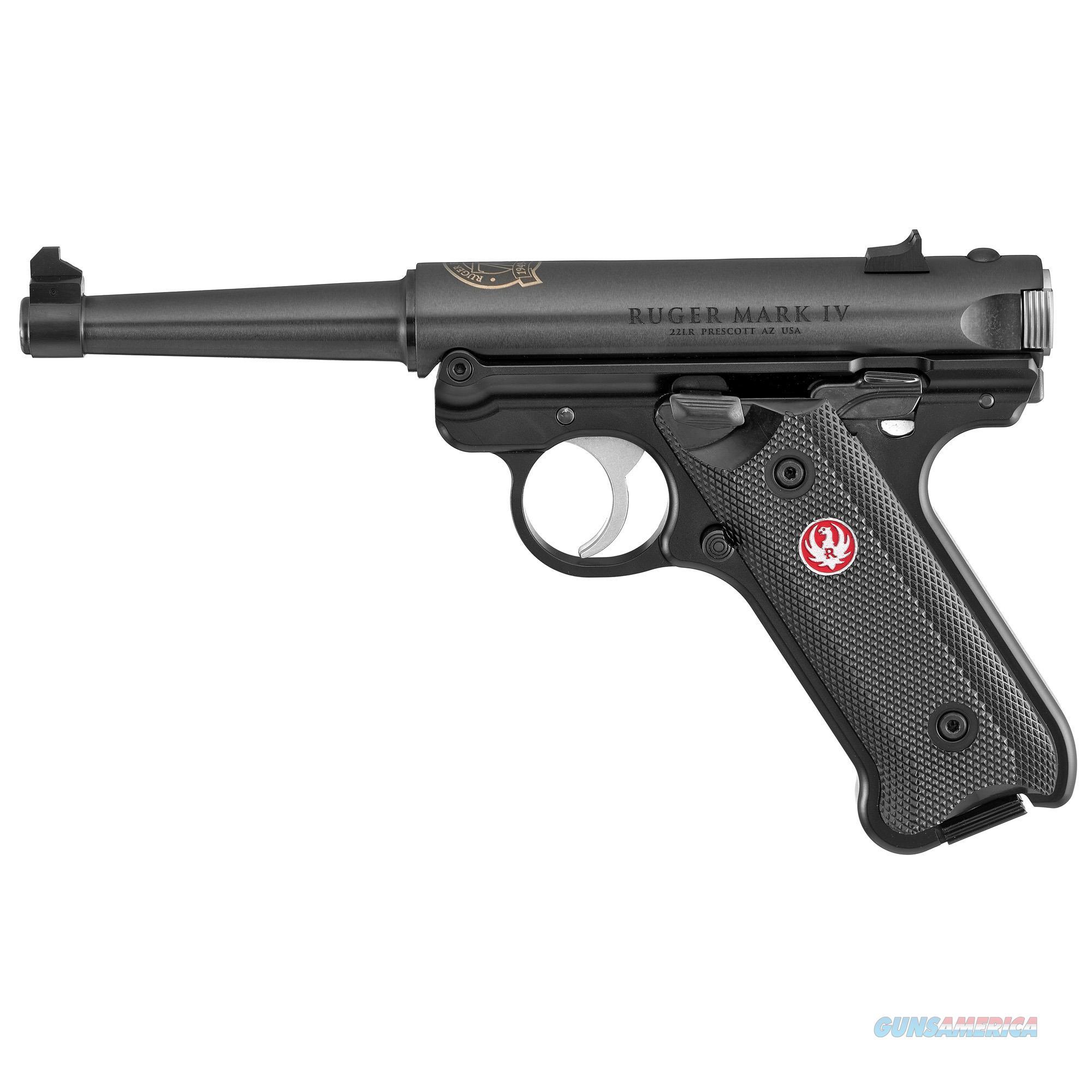 Ruger Mark Iv, Rug 40168 Mkiv  22lr Std 4.75 Fs 70th Anv Bl 10rd  Guns > Pistols > 1911 Pistol Copies (non-Colt)