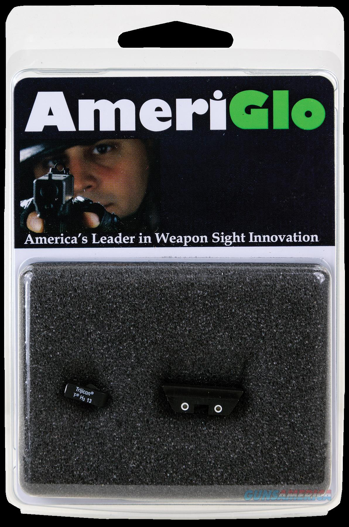 Ameriglo Classic 3 Dot, Amer Gl115 Night Sts Cls 9-40  Grn-ylw  Guns > Pistols > 1911 Pistol Copies (non-Colt)