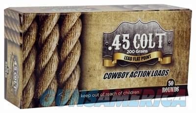American Cowboy .45 Long Colt - 200gr. Lead Flat-nose 50-pack  Guns > Pistols > 1911 Pistol Copies (non-Colt)