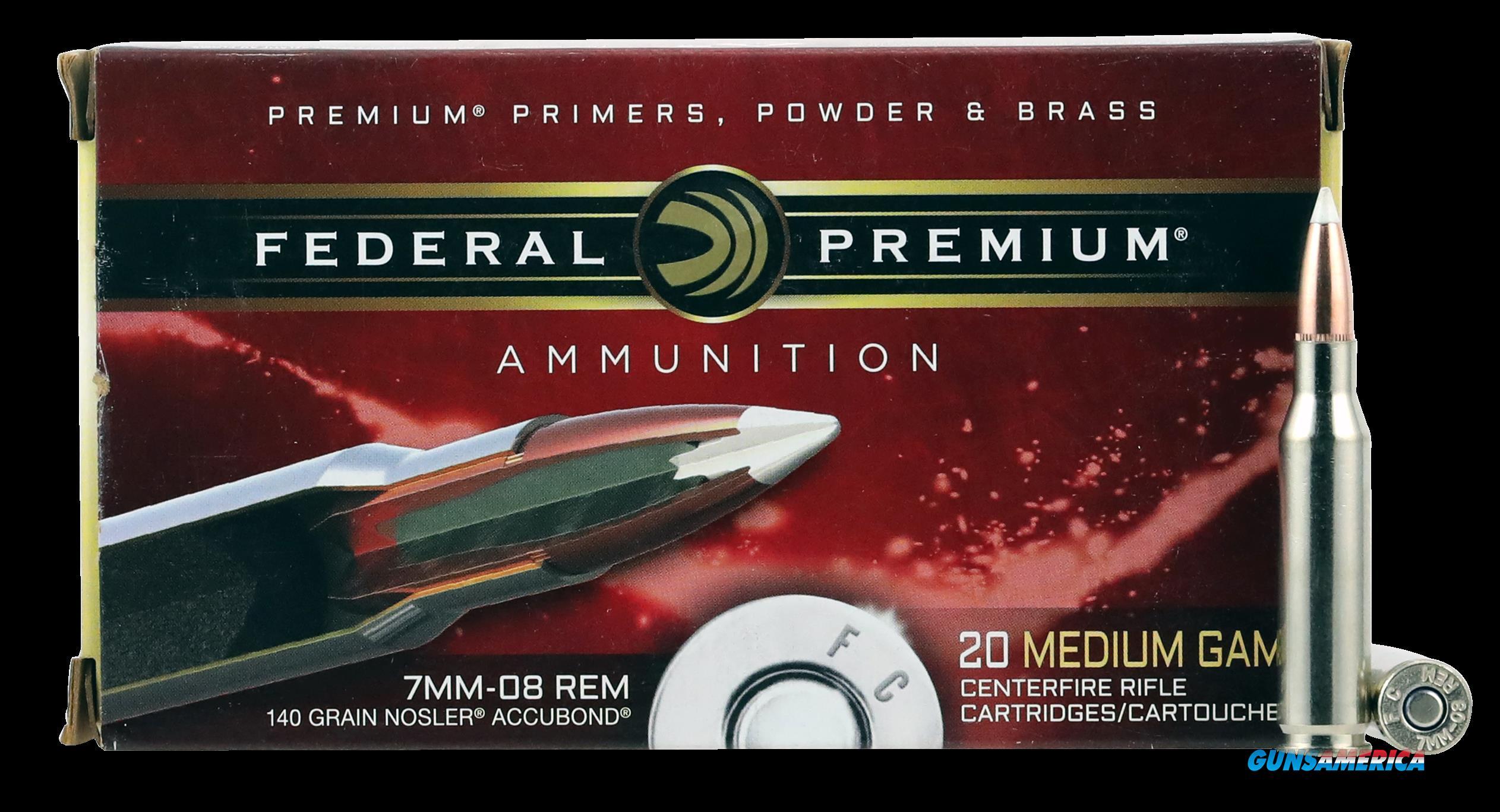 Federal Premium, Fed P708a1     7mm08  140 Nosab          20-10  Guns > Pistols > 1911 Pistol Copies (non-Colt)