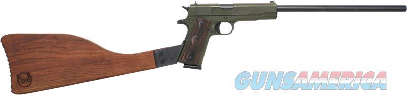 Iver Johnson 1911a1 Rifle - .45acp 16 Fs Od Green Wood  Guns > Pistols > 1911 Pistol Copies (non-Colt)