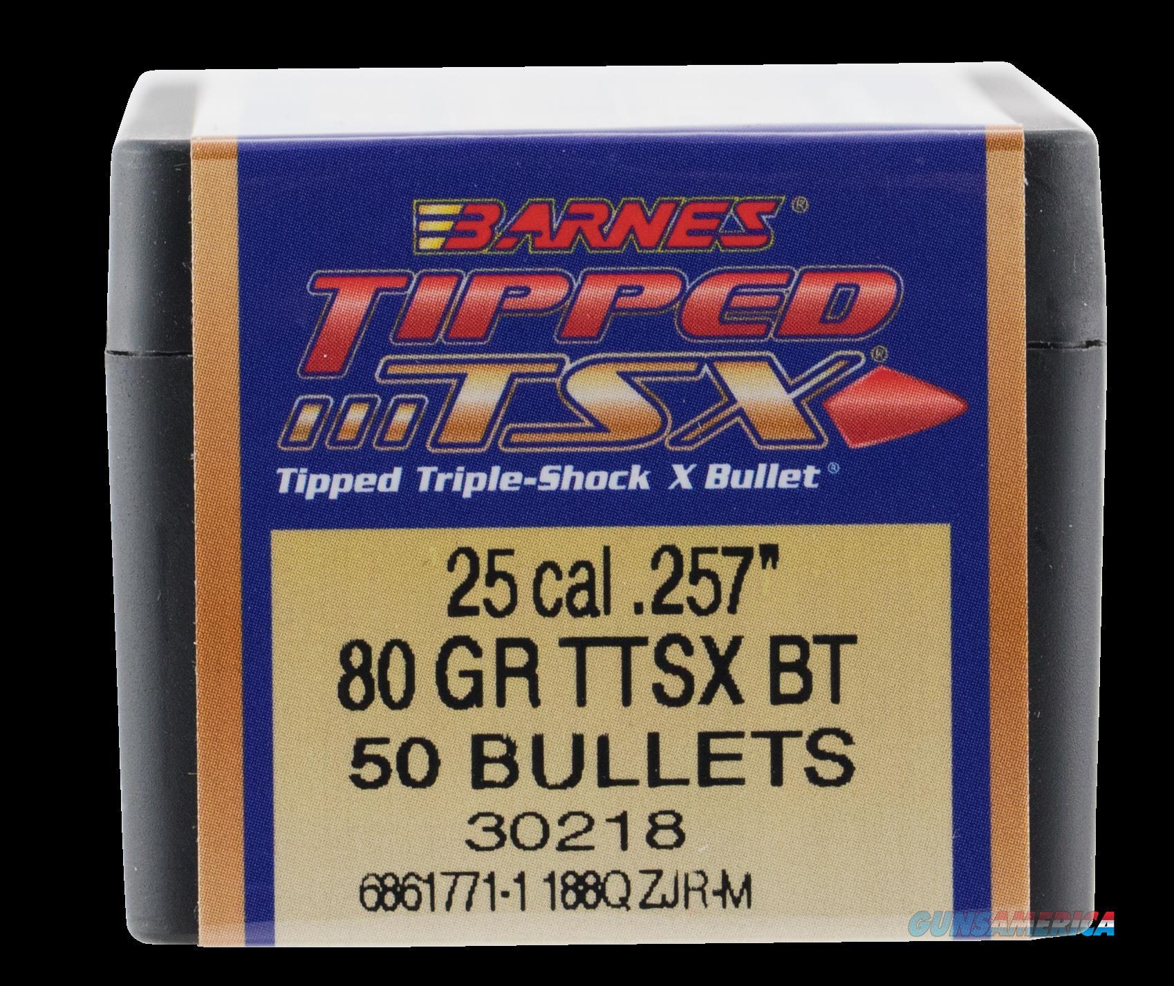 Barnes Bullets Tipped Tsx, Brns 30218 .257  80 Tipped Tsx Bt   50  Guns > Pistols > 1911 Pistol Copies (non-Colt)