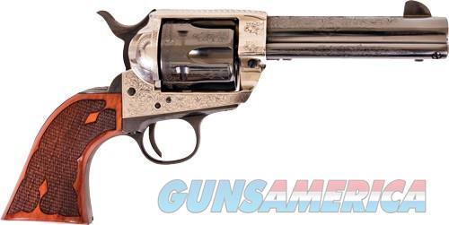 Cimarron Frontier .45lc Pw Fs - 4.75 Engraved Silver-bl Wal  Guns > Pistols > 1911 Pistol Copies (non-Colt)