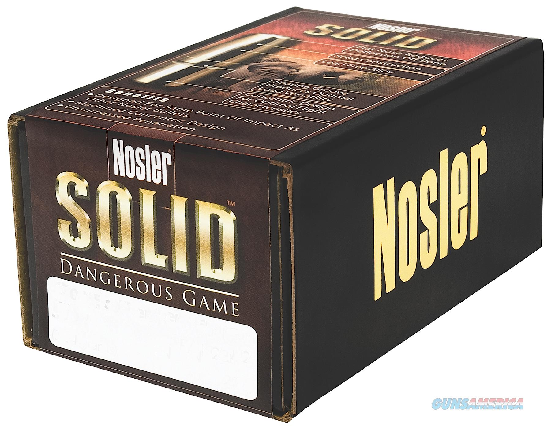 Nosler Solid, Nos 28455 Dg Solid   470 500 Fp     25  Guns > Pistols > 1911 Pistol Copies (non-Colt)
