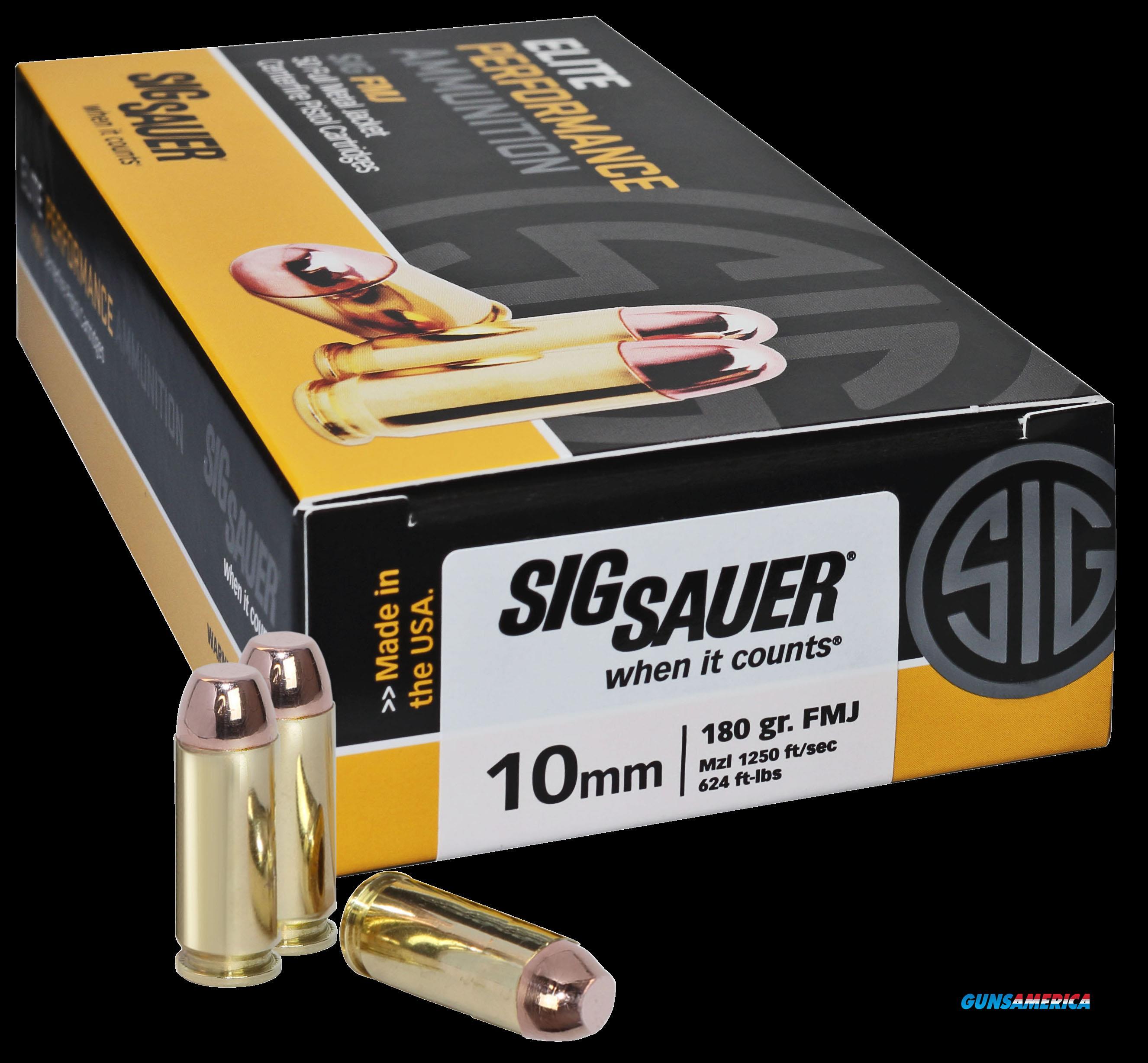 Sig Sauer Elite Ball, Sig E10mb1-50     10mm    180 Fmj Elite 50-20  Guns > Pistols > 1911 Pistol Copies (non-Colt)