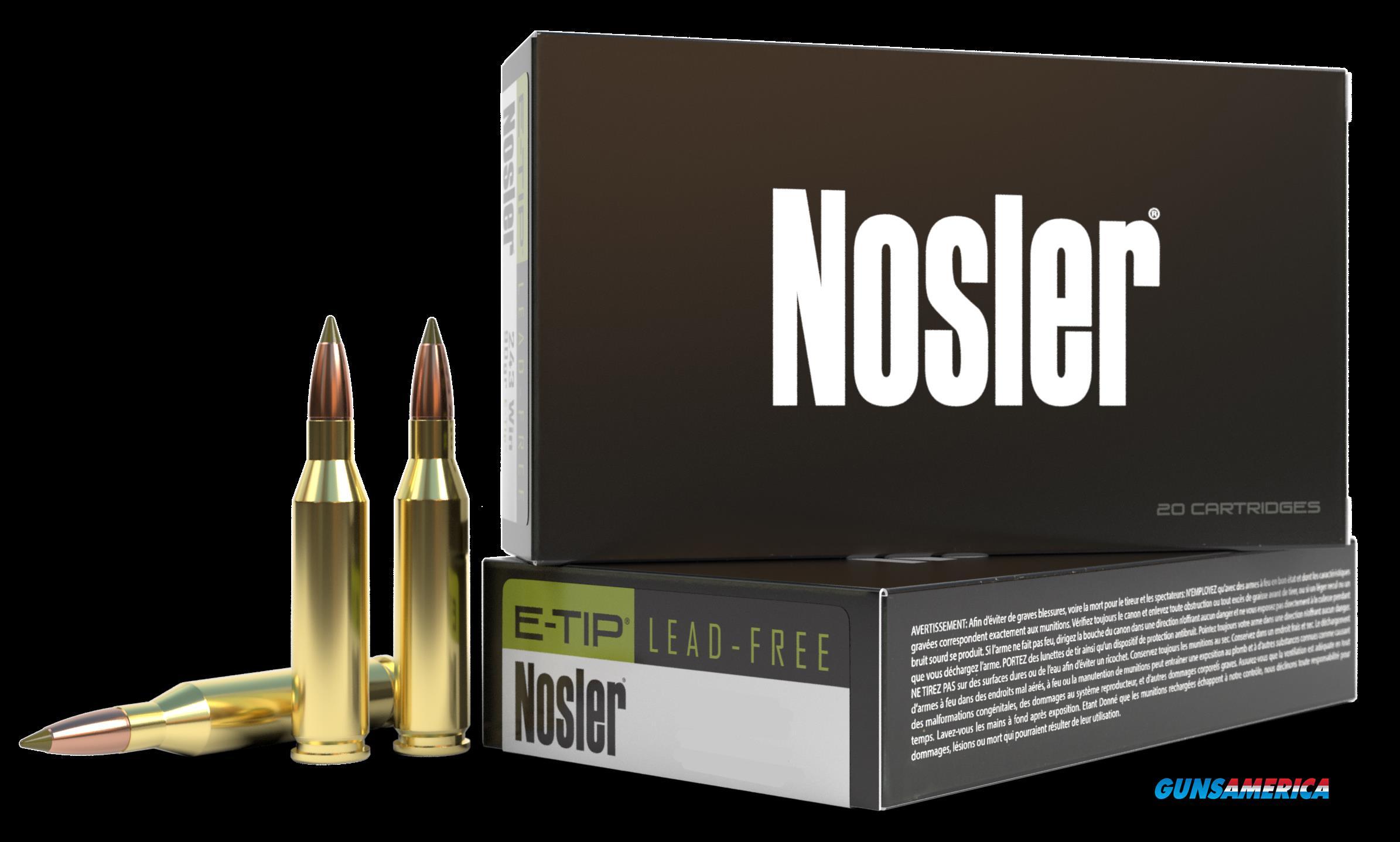 Nosler E-tip, Nos 40034 E-tip  308win   150 E-tip          20-10  Guns > Pistols > 1911 Pistol Copies (non-Colt)