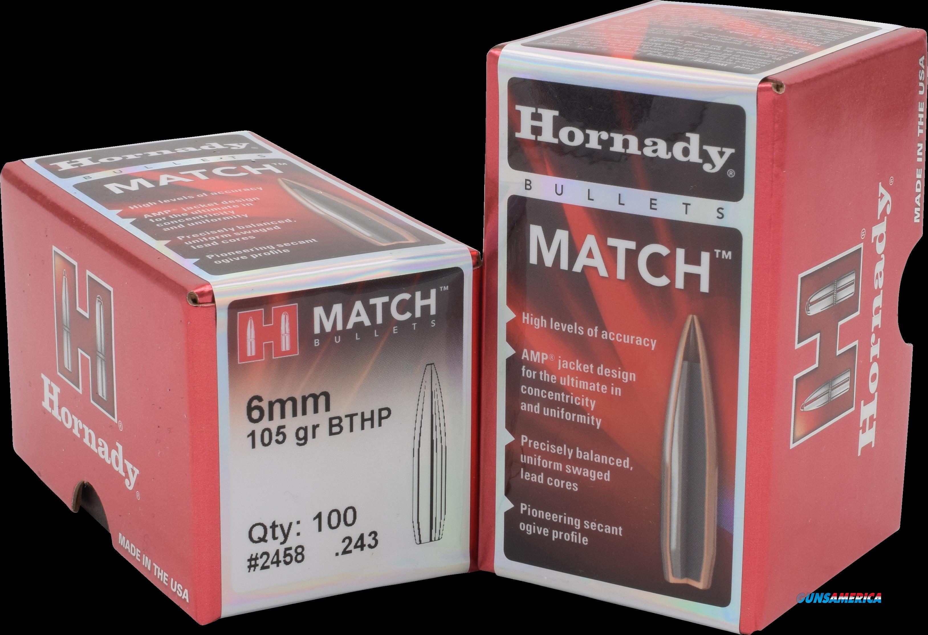 Hornady Match, Horn 24585 Bull .243 105 Bthp-m    500  Guns > Pistols > 1911 Pistol Copies (non-Colt)