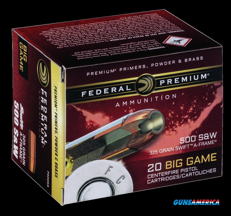 Federal Premium, Fed P500sa     500sw     325 Swafr        20-10  Guns > Pistols > 1911 Pistol Copies (non-Colt)