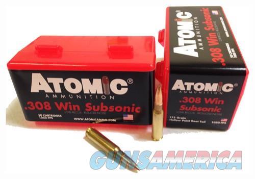 Atomic Ammo .308 Win. Subsonic - 175gr. Sierra Bthp 50-pack  Guns > Pistols > 1911 Pistol Copies (non-Colt)