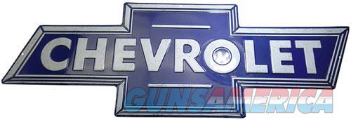 Open Road Brands Die Cut Emb - Tin Sign Chevrolet Bowtie Blue  Guns > Pistols > 1911 Pistol Copies (non-Colt)