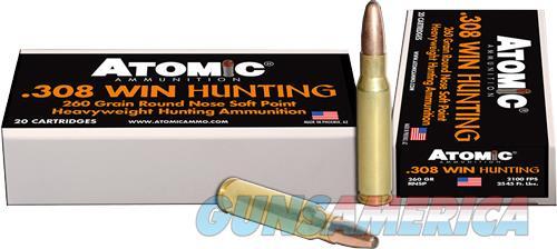 Atomic Ammo .308 Win 260gr. - Roundnose Softpoint 20-pack  Guns > Pistols > 1911 Pistol Copies (non-Colt)