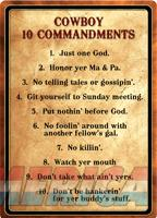 Rivers Edge Sign 12x17 - cowboy 10 Commandments  Guns > Pistols > 1911 Pistol Copies (non-Colt)