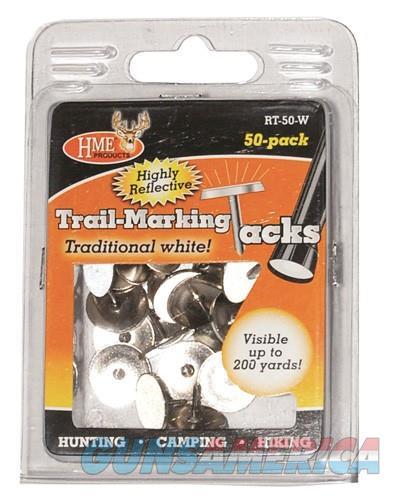 Hme Trail Tacks Reflective - Metal White 50pk  Guns > Pistols > 1911 Pistol Copies (non-Colt)