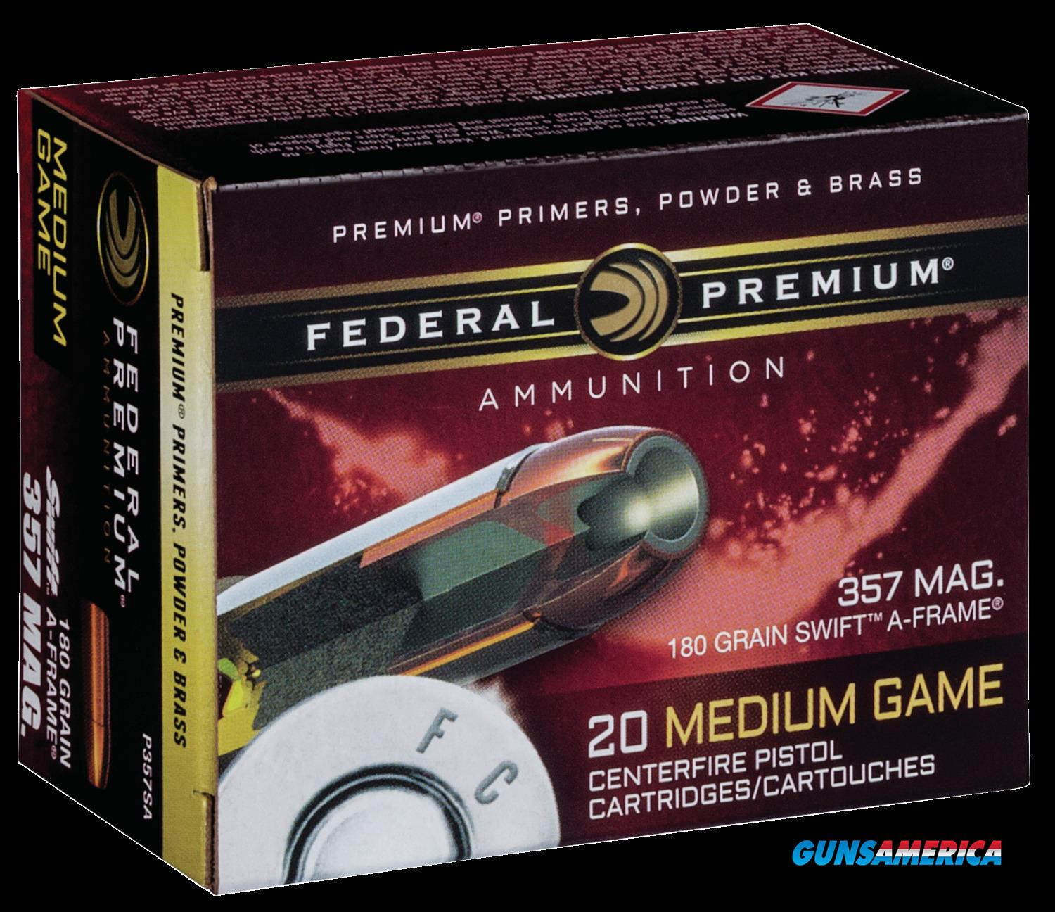 Federal Premium, Fed P357sa     357    180 Swfr             20-10  Guns > Pistols > 1911 Pistol Copies (non-Colt)