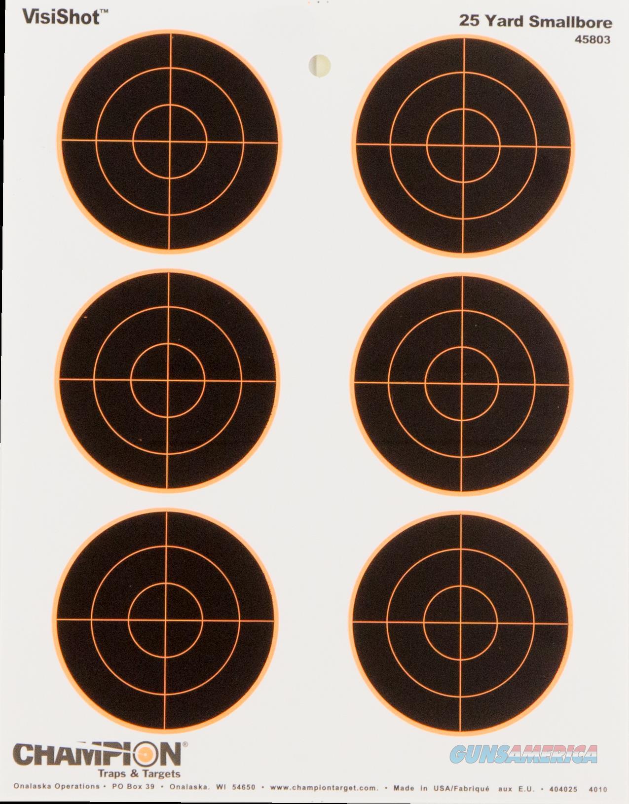 Champion Targets Visishot, Champ 45803 Visishot Tgt 3in Bulls  Guns > Pistols > 1911 Pistol Copies (non-Colt)