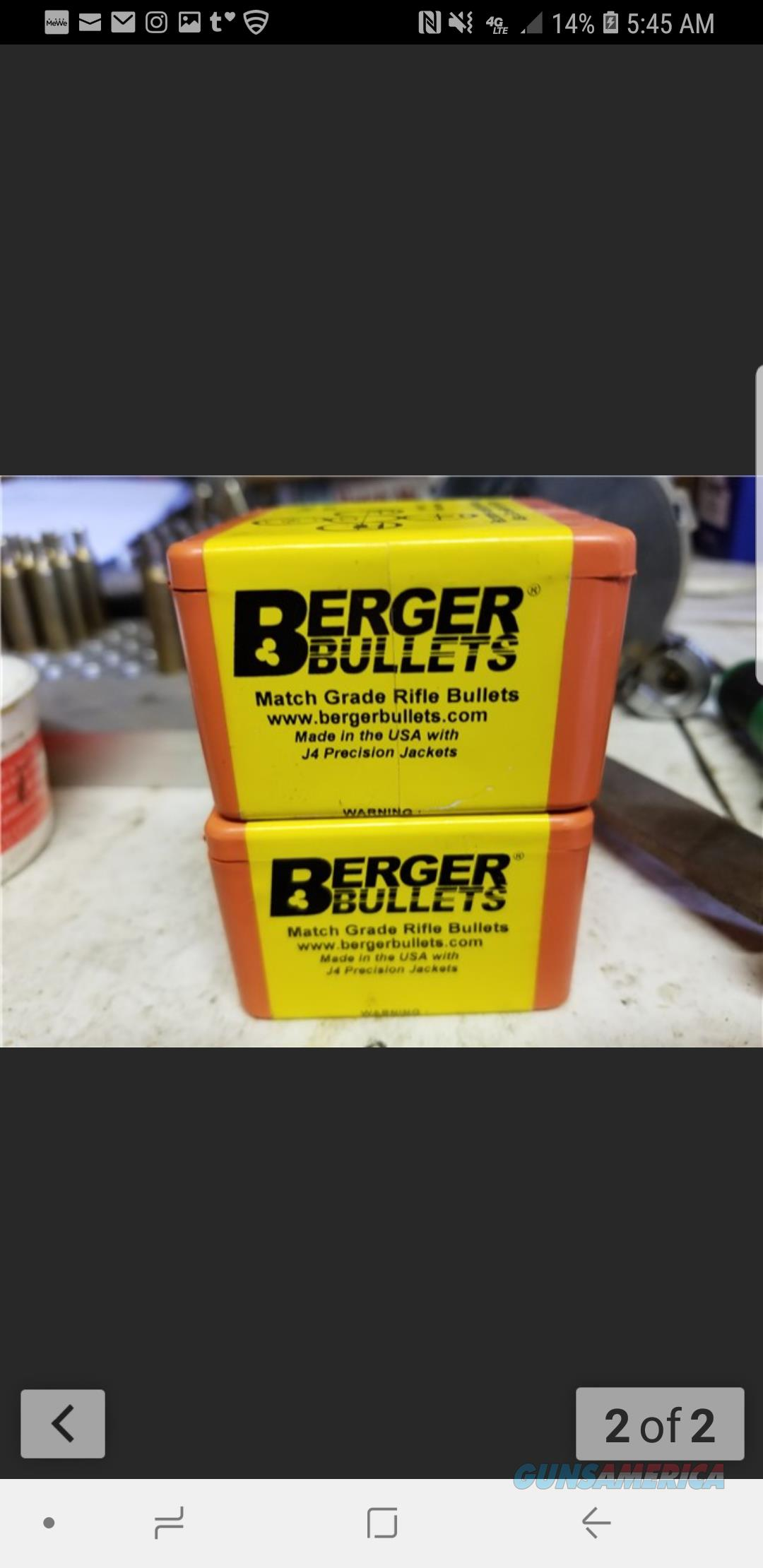 Berger 55g match .224   Non-Guns > Reloading > Components > Bullets