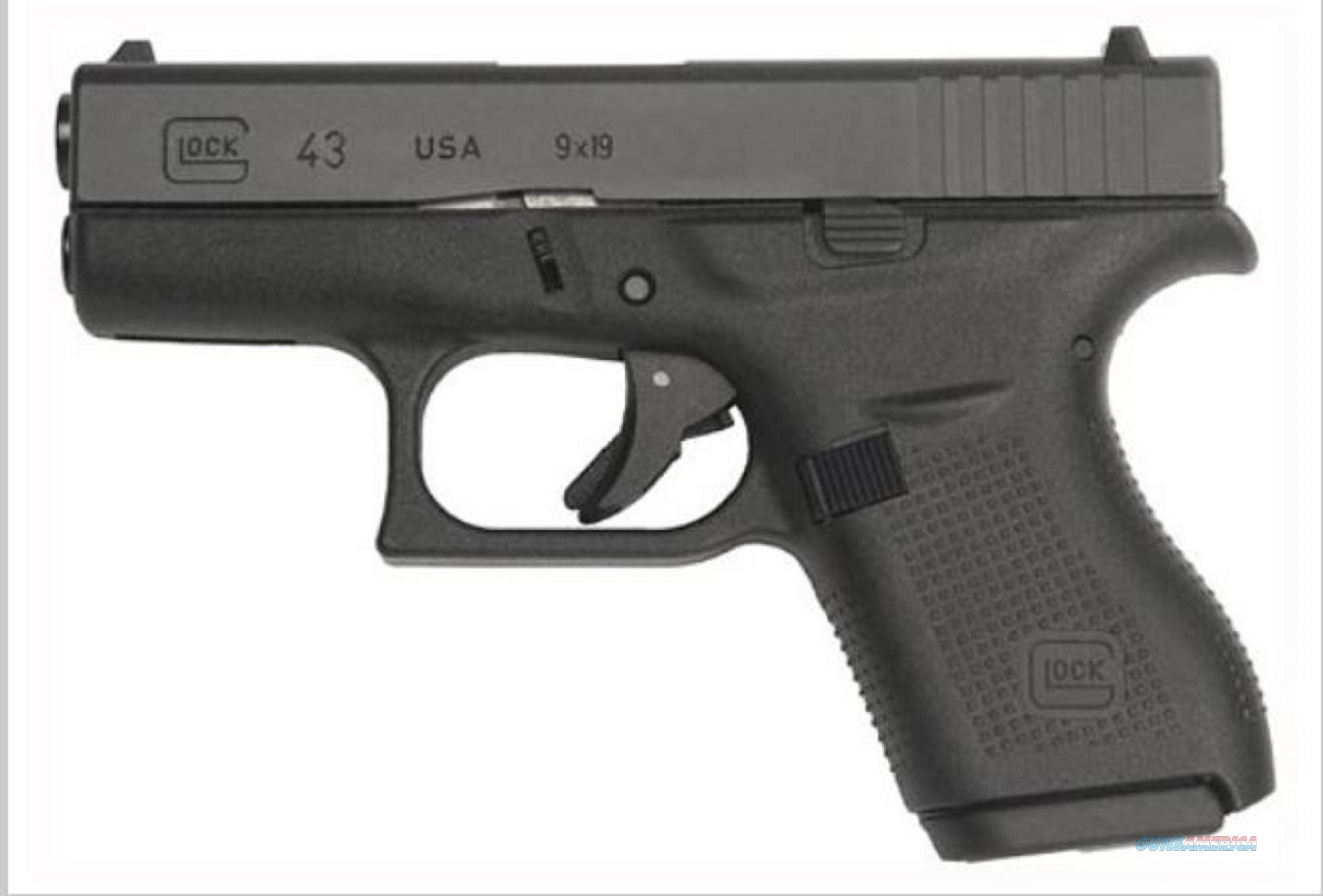 GLOCK 43 9MM LUGER FS 6 SHOT BLACK - NEW IN BOX  Guns > Pistols > Glock Pistols > 43/43X