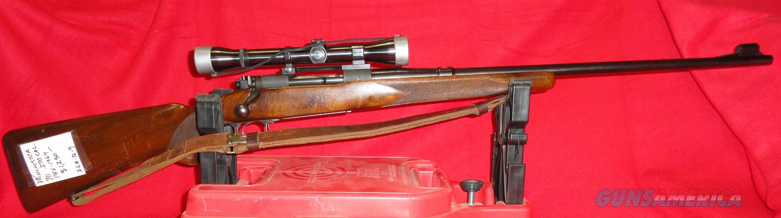 Winchester Model 70 w/ Weaver K4 60-B Scope  Guns > Rifles > Winchester Rifles - Modern Bolt/Auto/Single > Model 70 > Pre-64