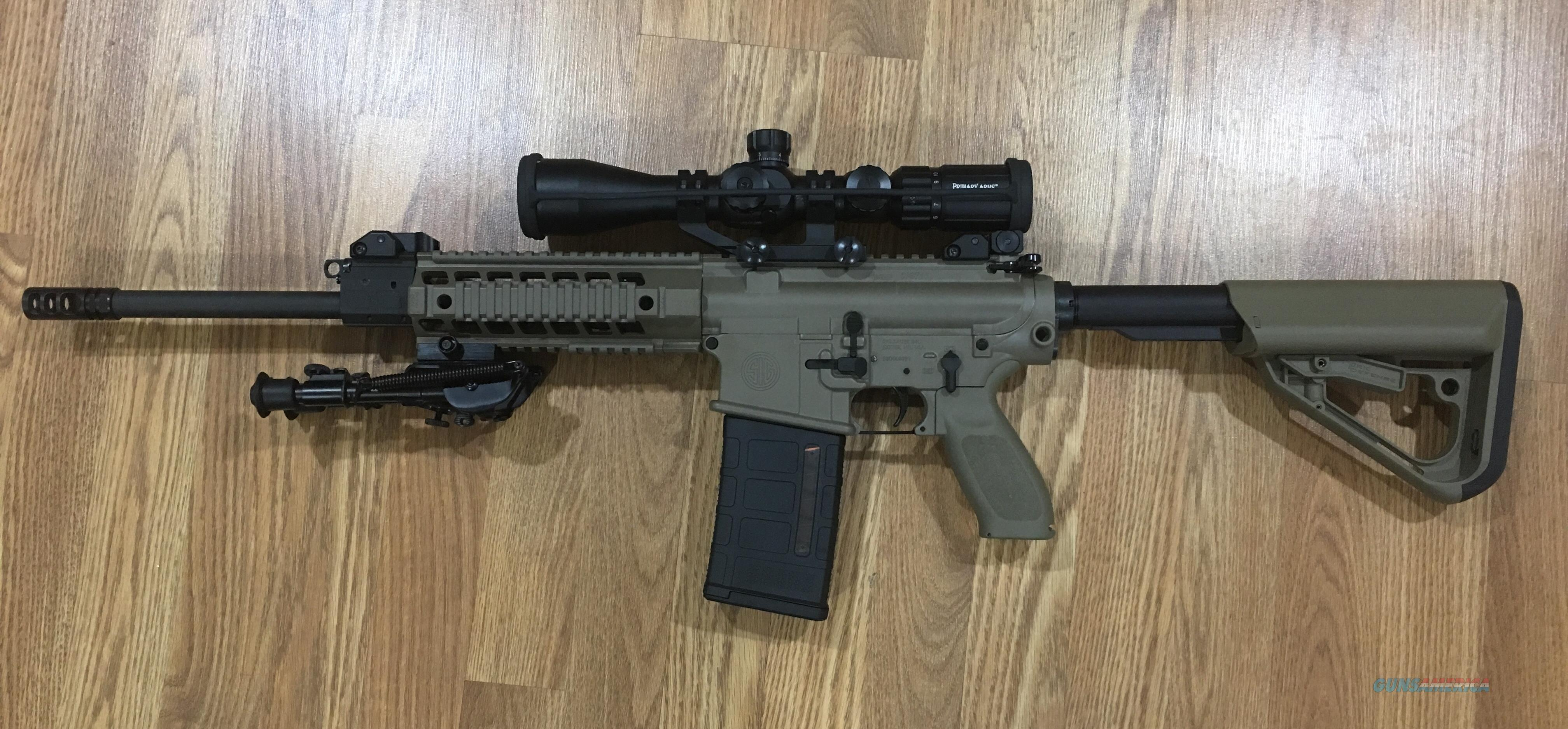 Used SIG Sauer SIG716 Patrol in FDE with upgrades!  Guns > Rifles > Sig - Sauer/Sigarms Rifles