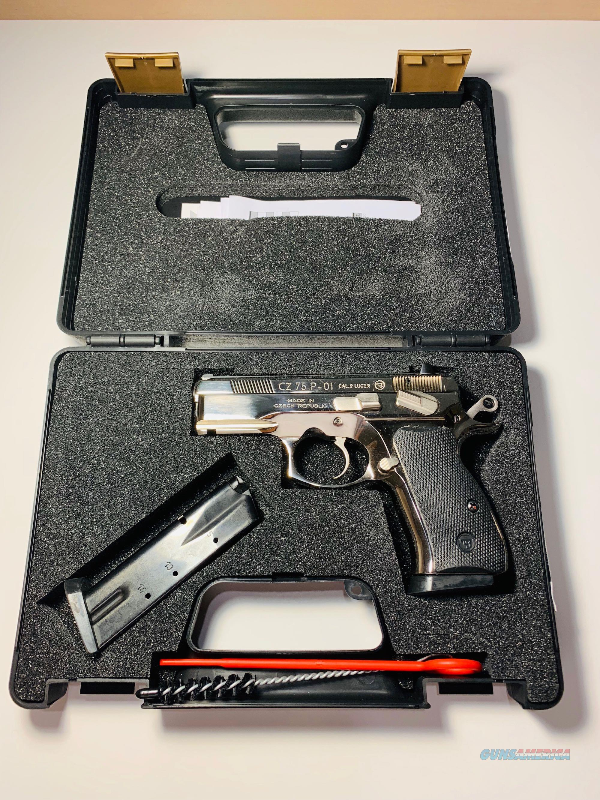 CZ 75 P-01 Bright Polished Stainless Steel - Limited Run Only 150 Imported  Guns > Pistols > CZ Pistols