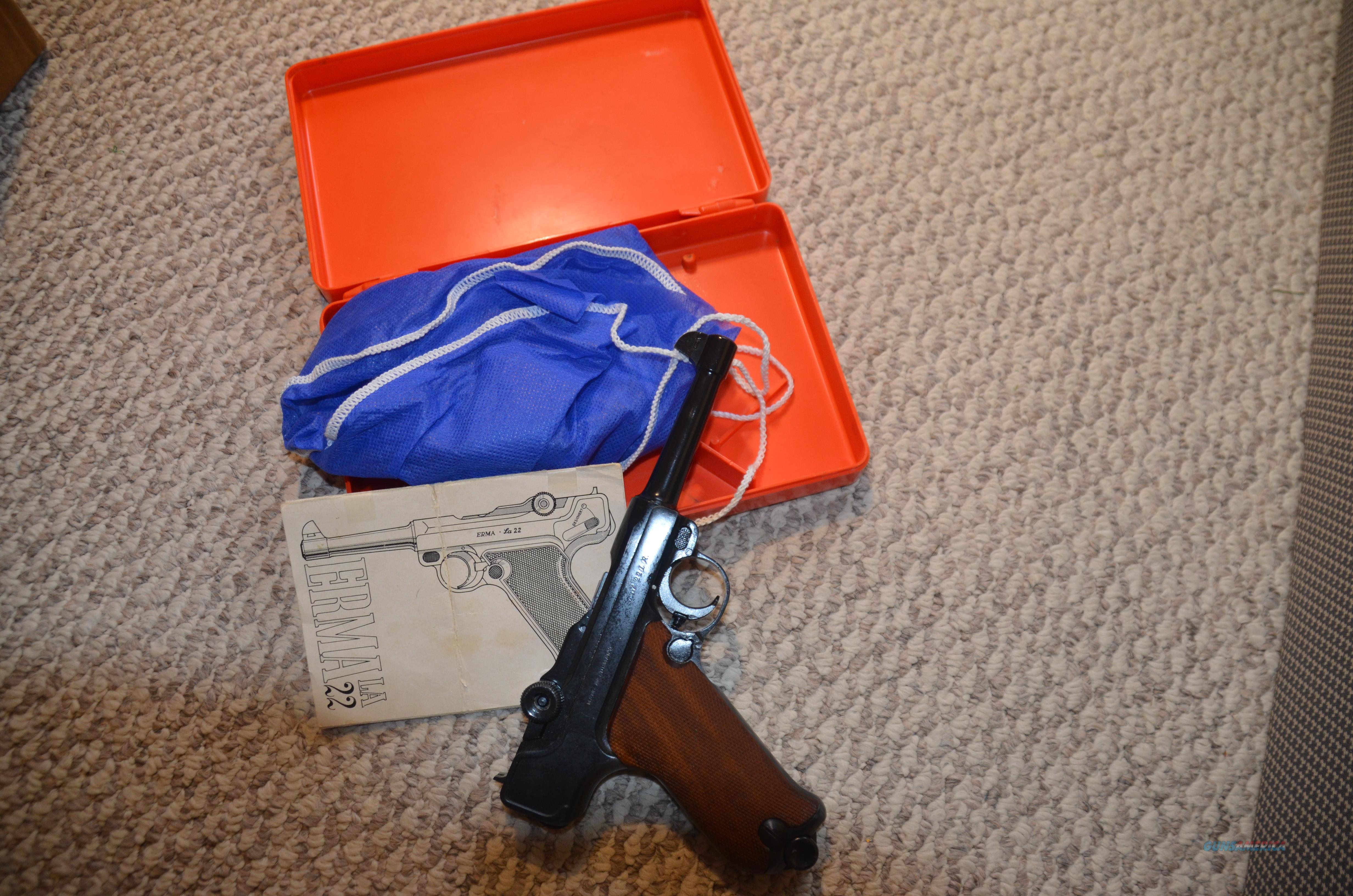 Erma LA-22 22 LR Semi Pistol P-08  Guns > Pistols > Erma/Erma Werke