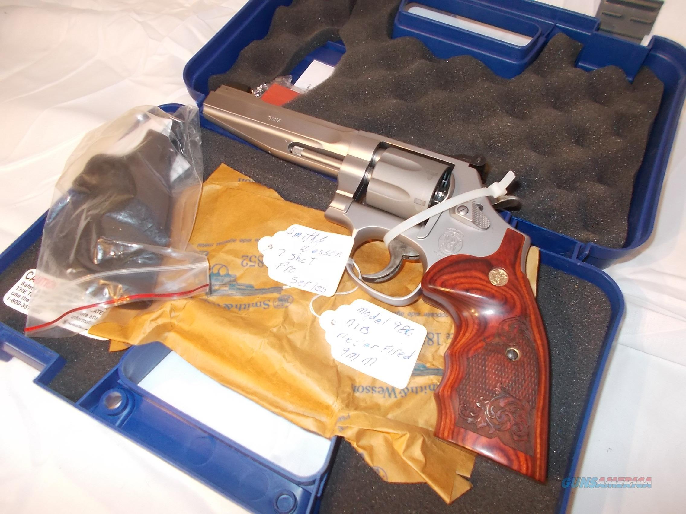 smith&wesson 986 9mm pro series  Guns > Pistols > Smith & Wesson Revolvers > Full Frame Revolver