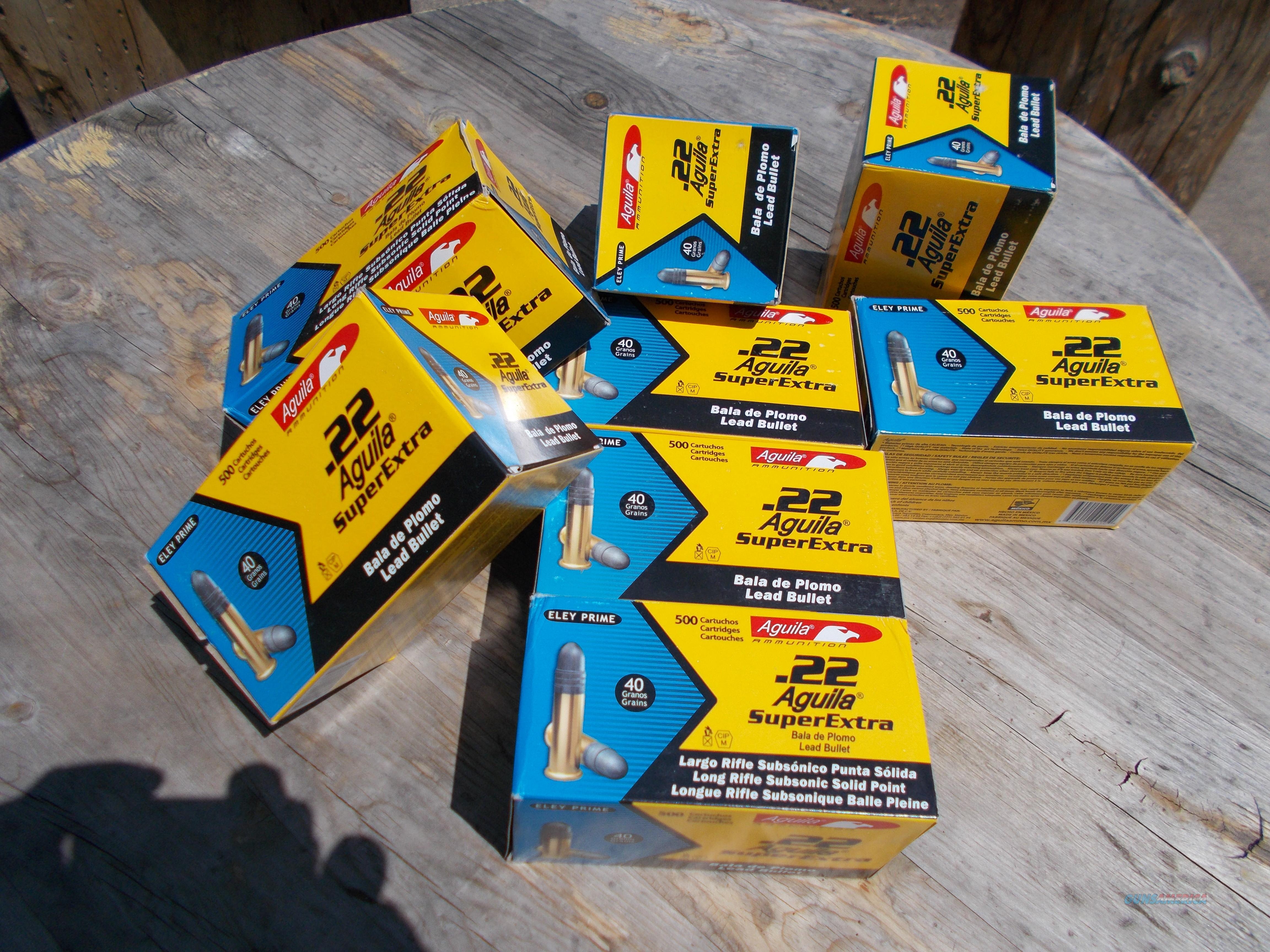 Aguila super extra 22 lr 20.00 for box of 500  Non-Guns > Ammunition