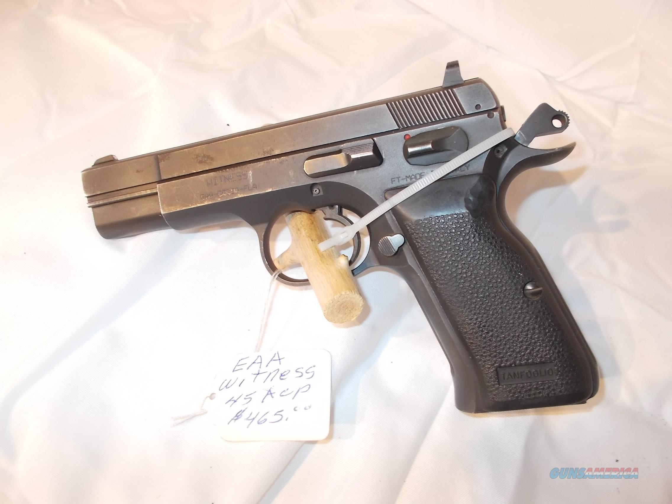 EAA witness 45 acp double/single action  Guns > Pistols > EAA Pistols > Other