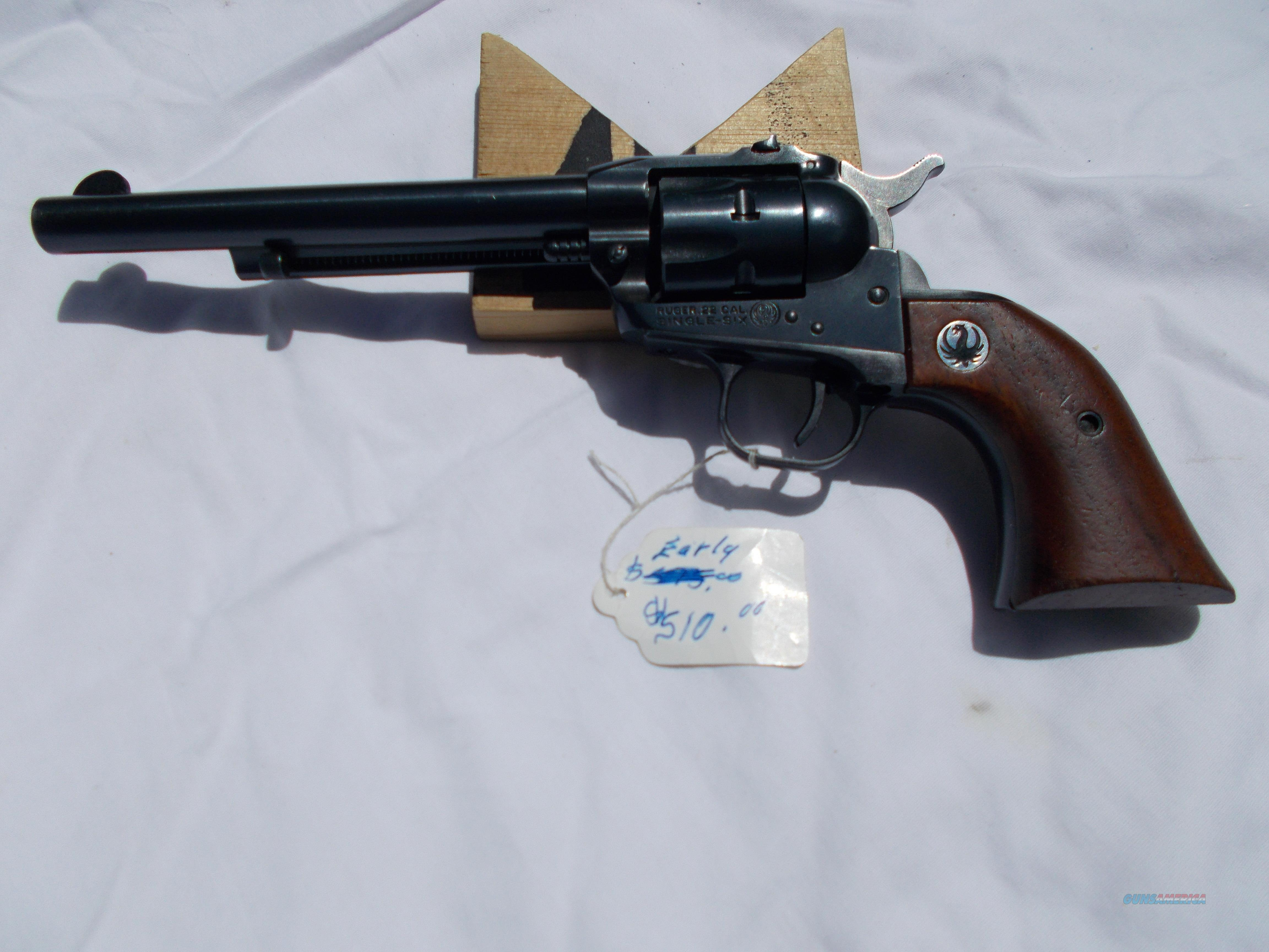 ruger single six 3 screw early  Guns > Pistols > Ruger Single Action Revolvers > Single Six Type