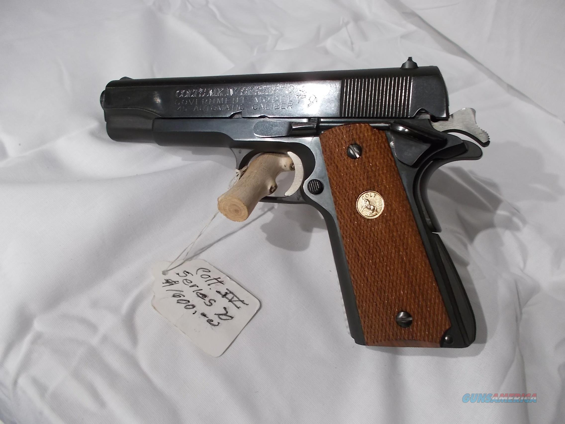 colt markIV series 70 government model w/box  Guns > Pistols > Colt Automatic Pistols (1911 & Var)
