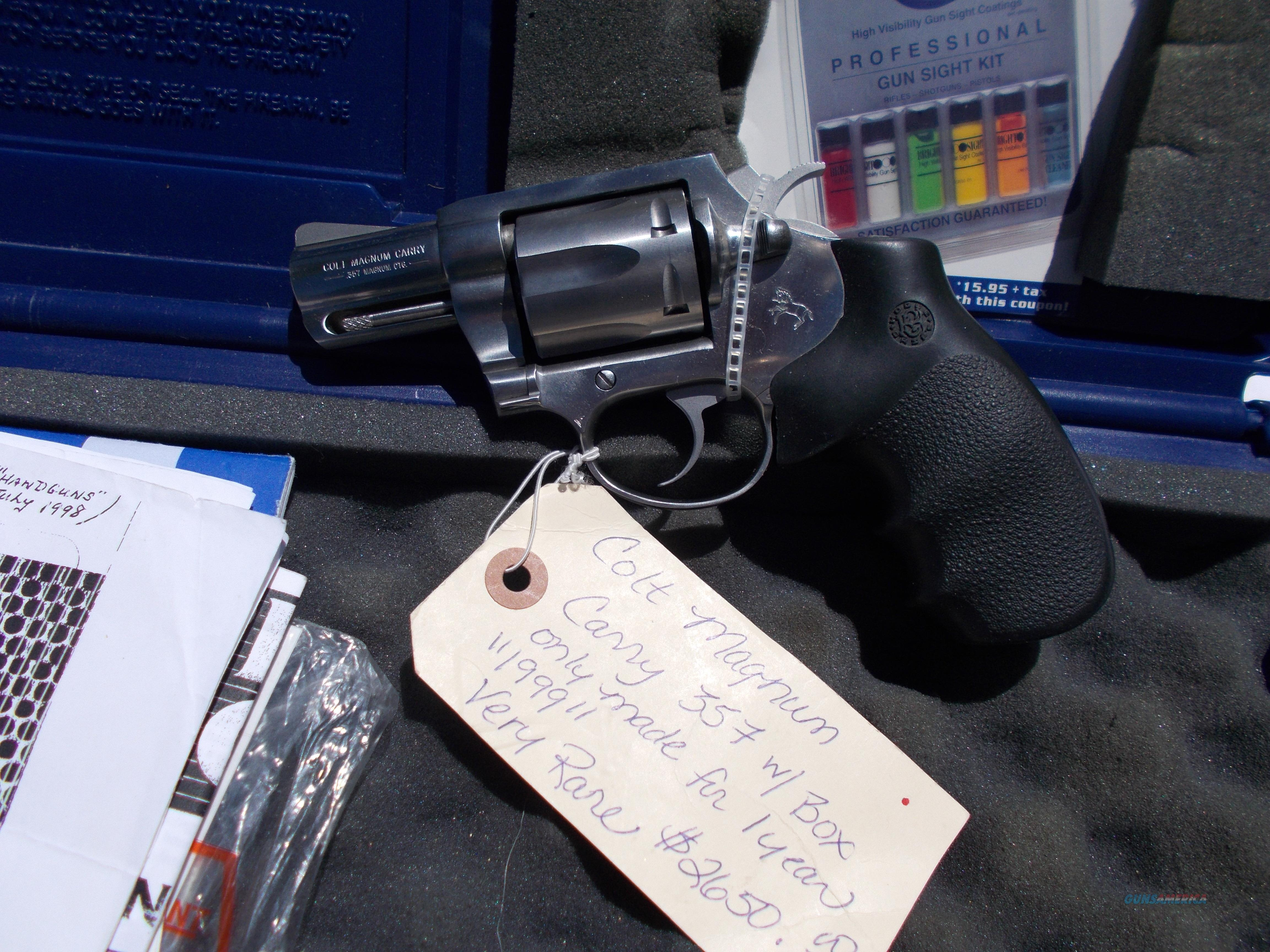 colt mod SD2020 magnum carry 357  Guns > Pistols > Colt Double Action Revolvers- Modern