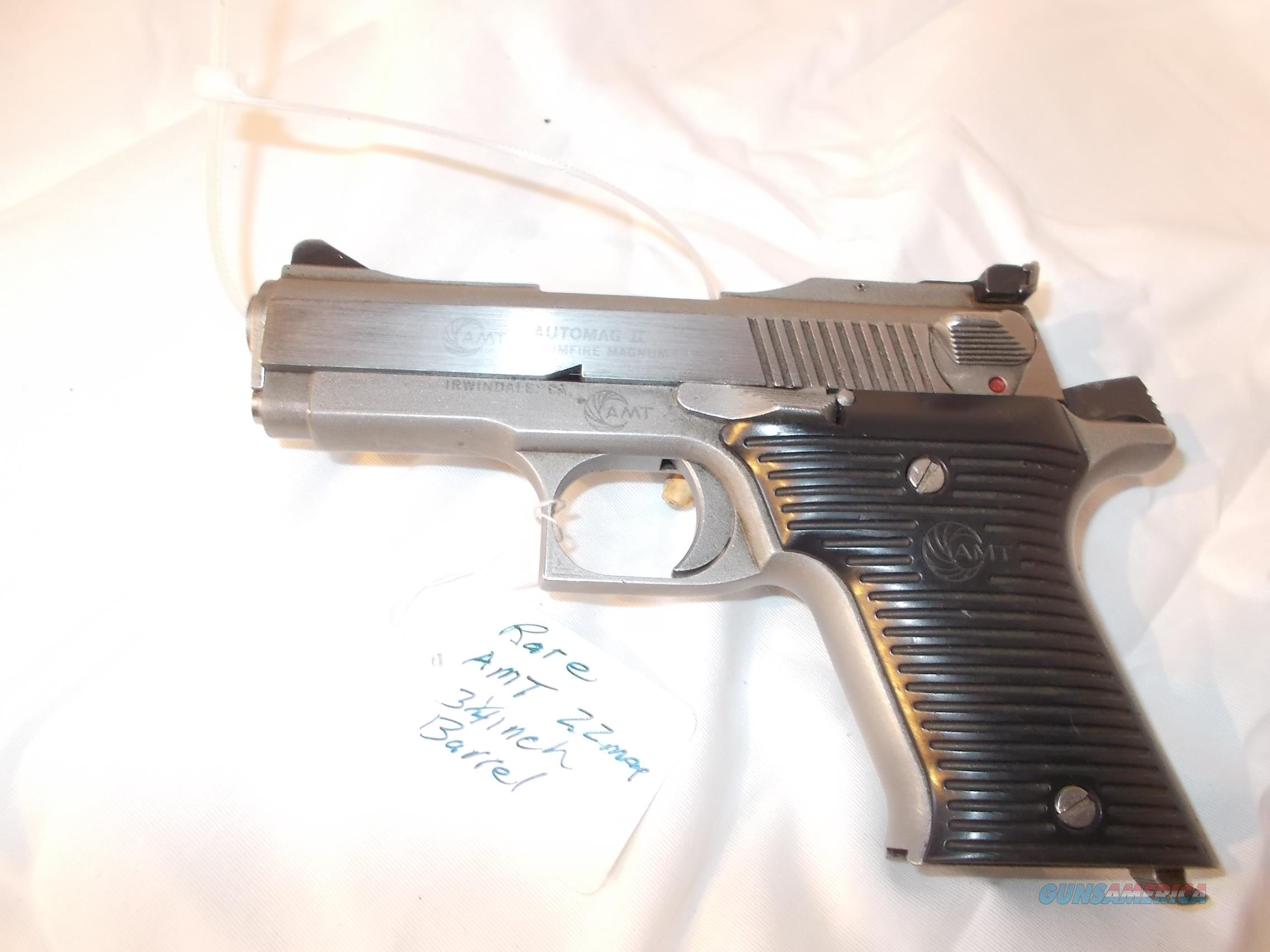 AMT automagII 22 mag 3 1/4 inch barrel very rare  Guns > Pistols > AMT Pistols > Double Action