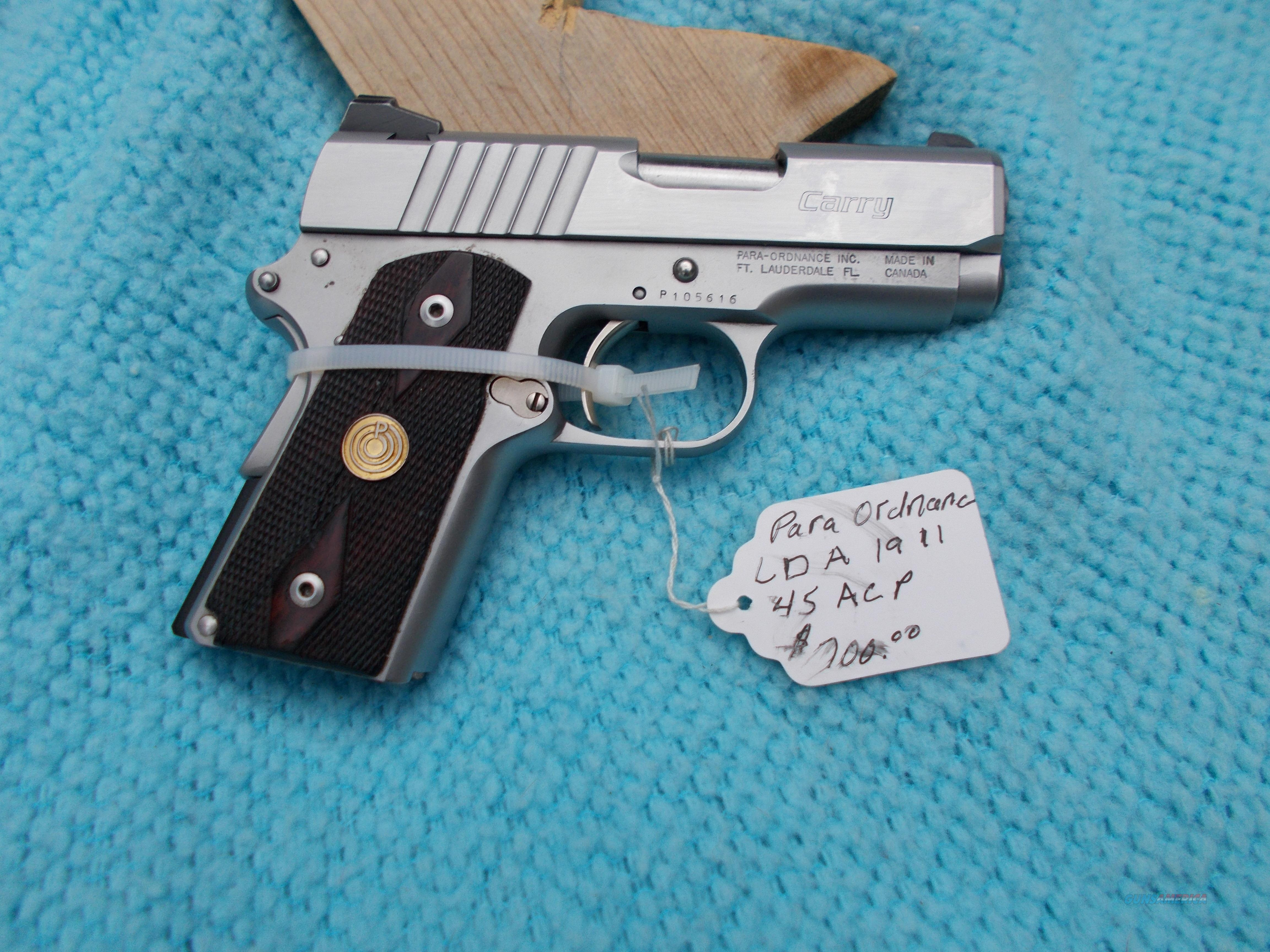 para ordnance LDA 1911 Carry 45acp  Guns > Pistols > Para Ordnance Pistols