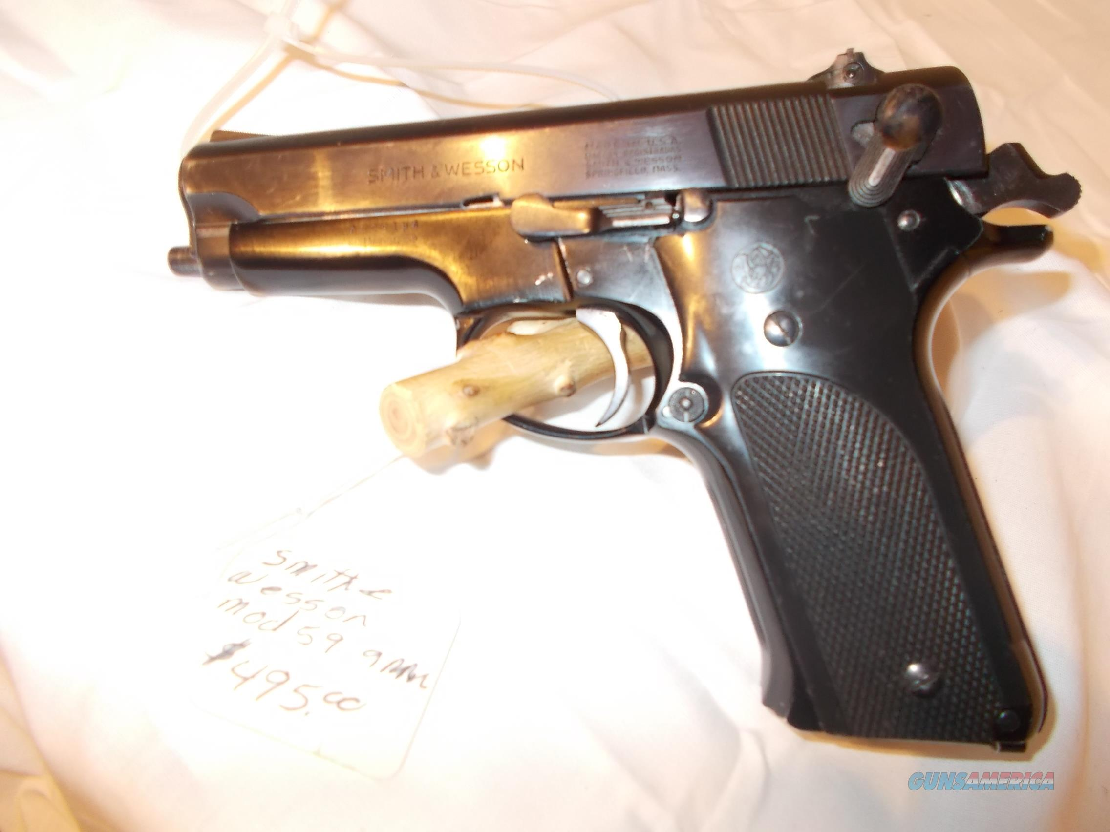 smith& wesson model 59 9mm  Guns > Pistols > Smith & Wesson Pistols - Autos > Steel Frame