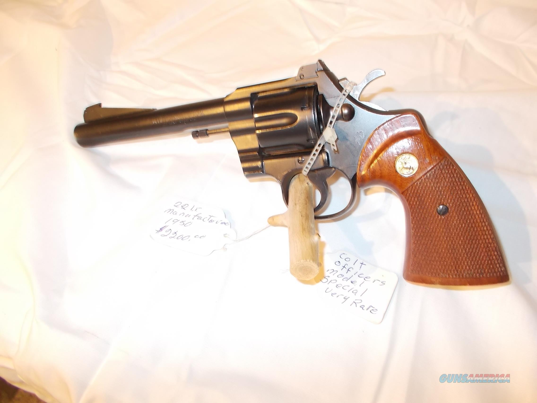 colt officers model special 22lr very rare  Guns > Pistols > Colt Single Action Revolvers - Modern (22 Cal.)