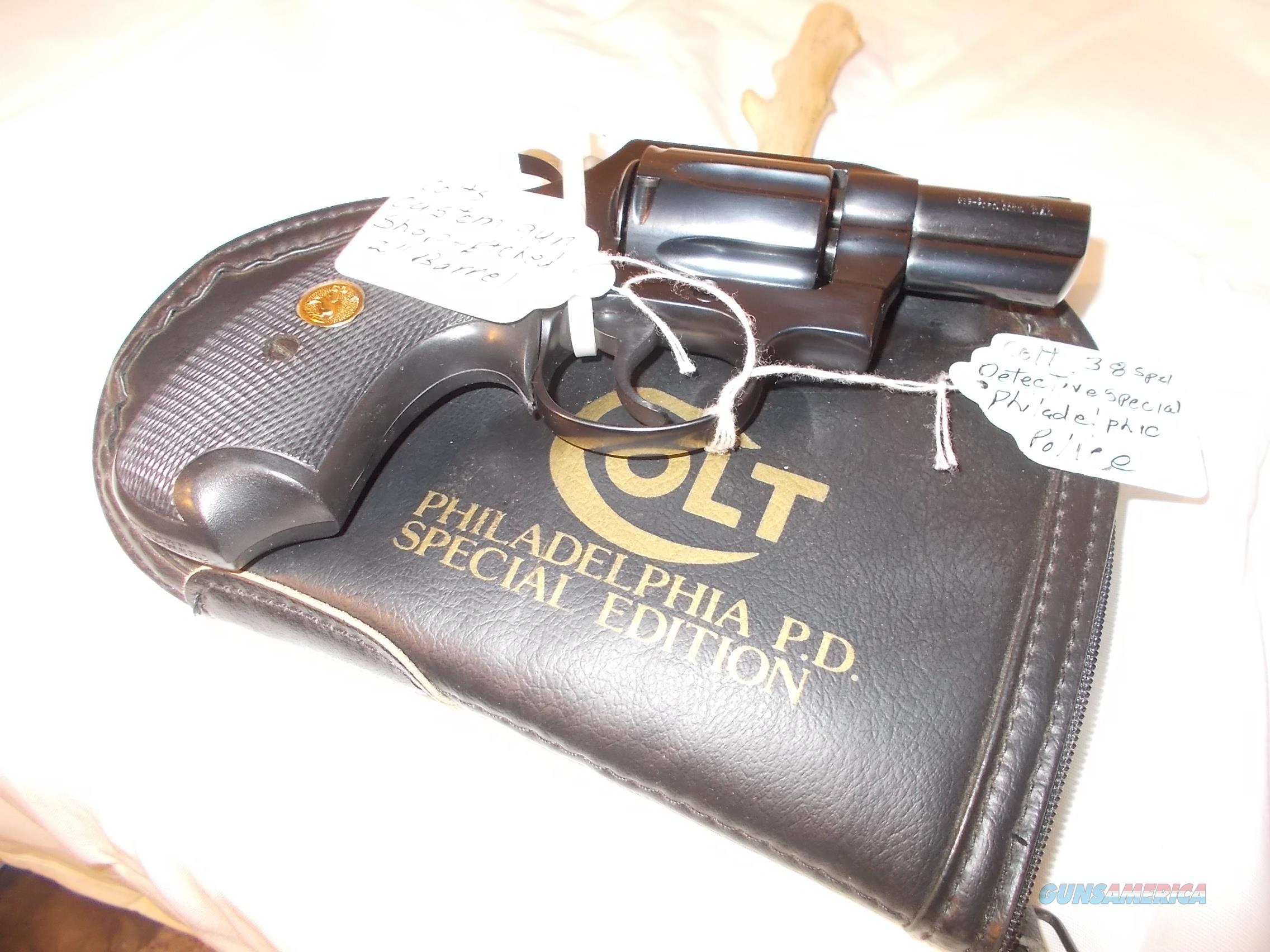 colt detective special philadephia police special issue  Guns > Pistols > Collectible Revolvers