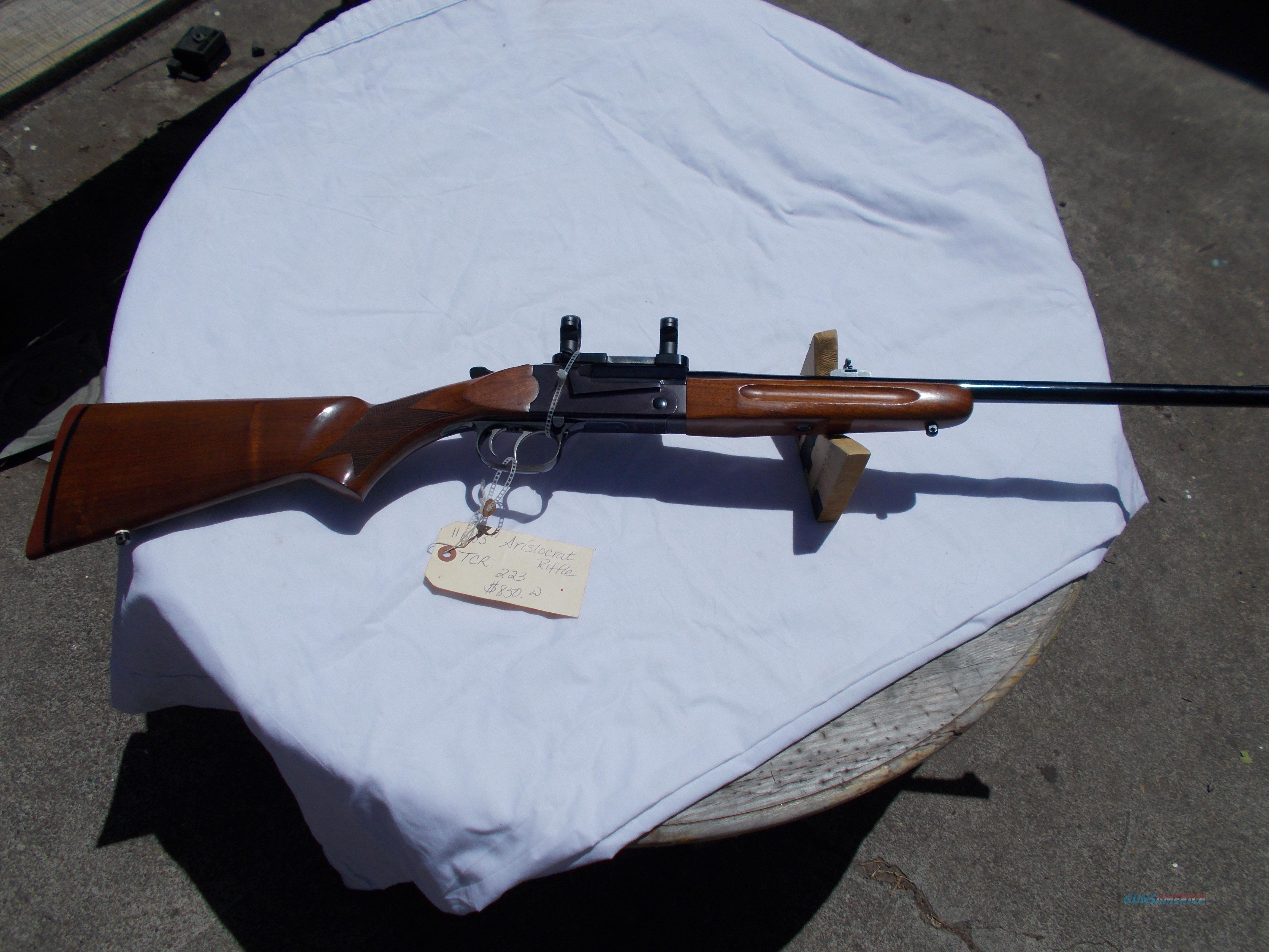 TCR 1983 ARISTOCRAT 223/5.56  Guns > Rifles > Thompson Center Rifles > Performance Center Long Range