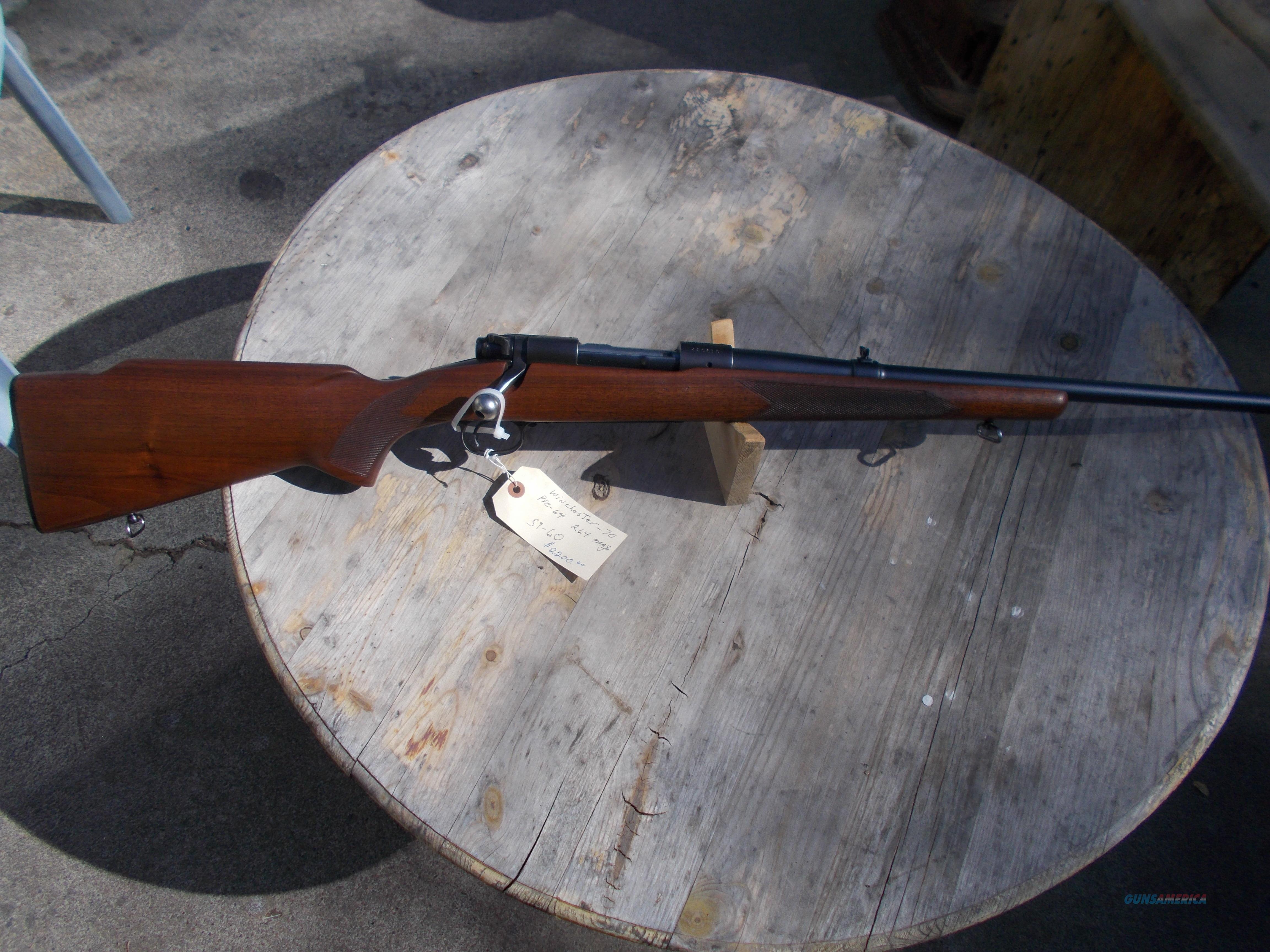 pre 64 264 win mag winchester model70  Guns > Rifles > Winchester Rifles - Modern Bolt/Auto/Single > Model 70 > Pre-64