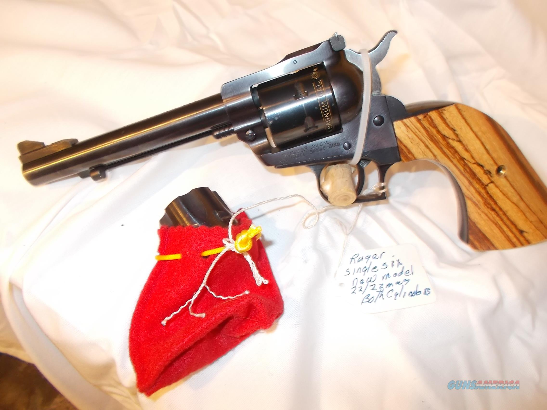 ruger new model single six 22lr/22mag  Guns > Pistols > Ruger Single Action Revolvers > Single Six Type