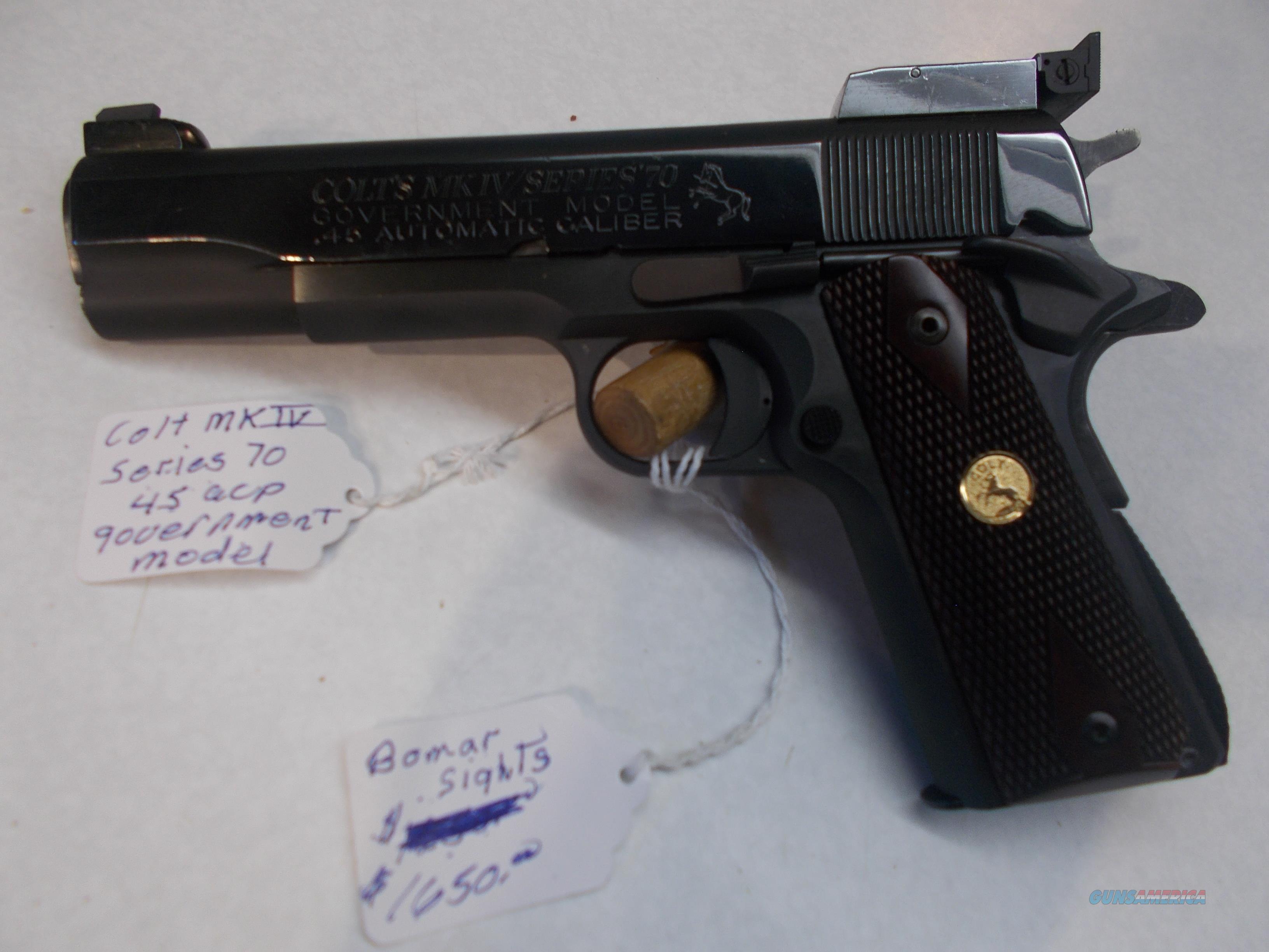 colt MKIV series 70 goverment 45acp exceptional  Guns > Pistols > Colt Automatic Pistols (1911 & Var)