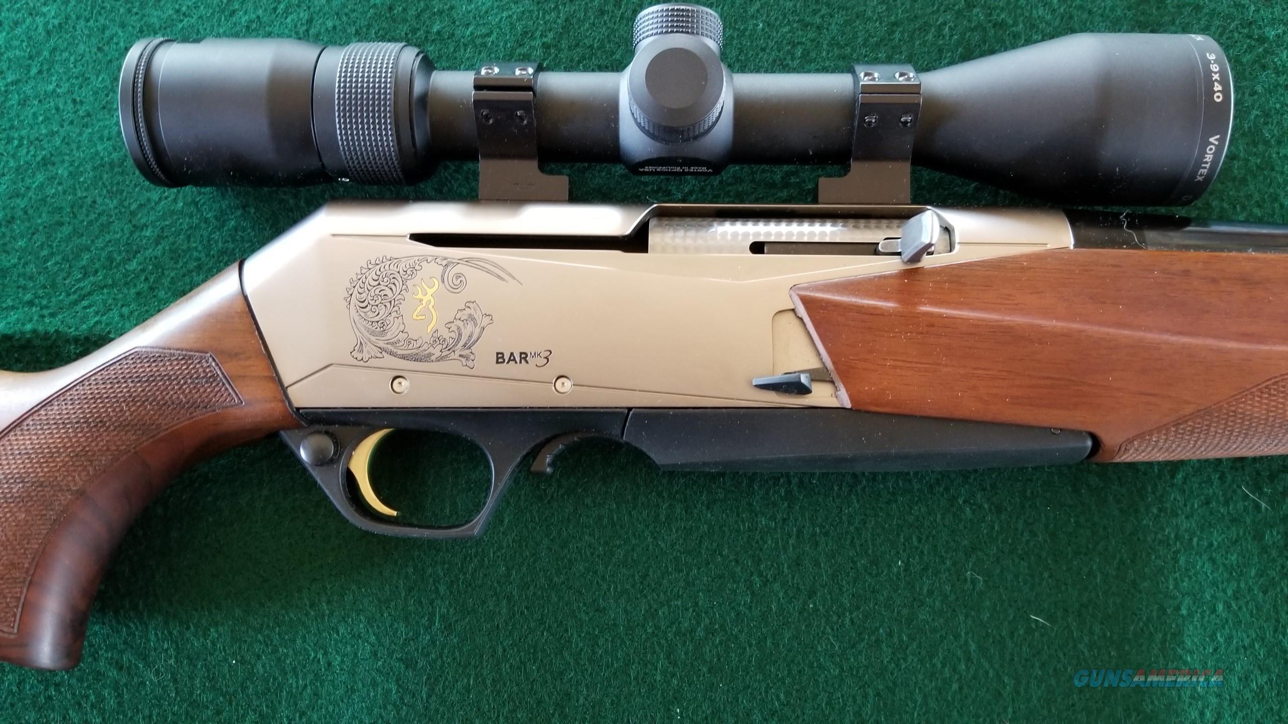 New Browning BAR MK3 7mm-08 w New Vortex Diamondback 3-9X40 Scope  Guns > Rifles > Browning Rifles > Semi Auto > Hunting