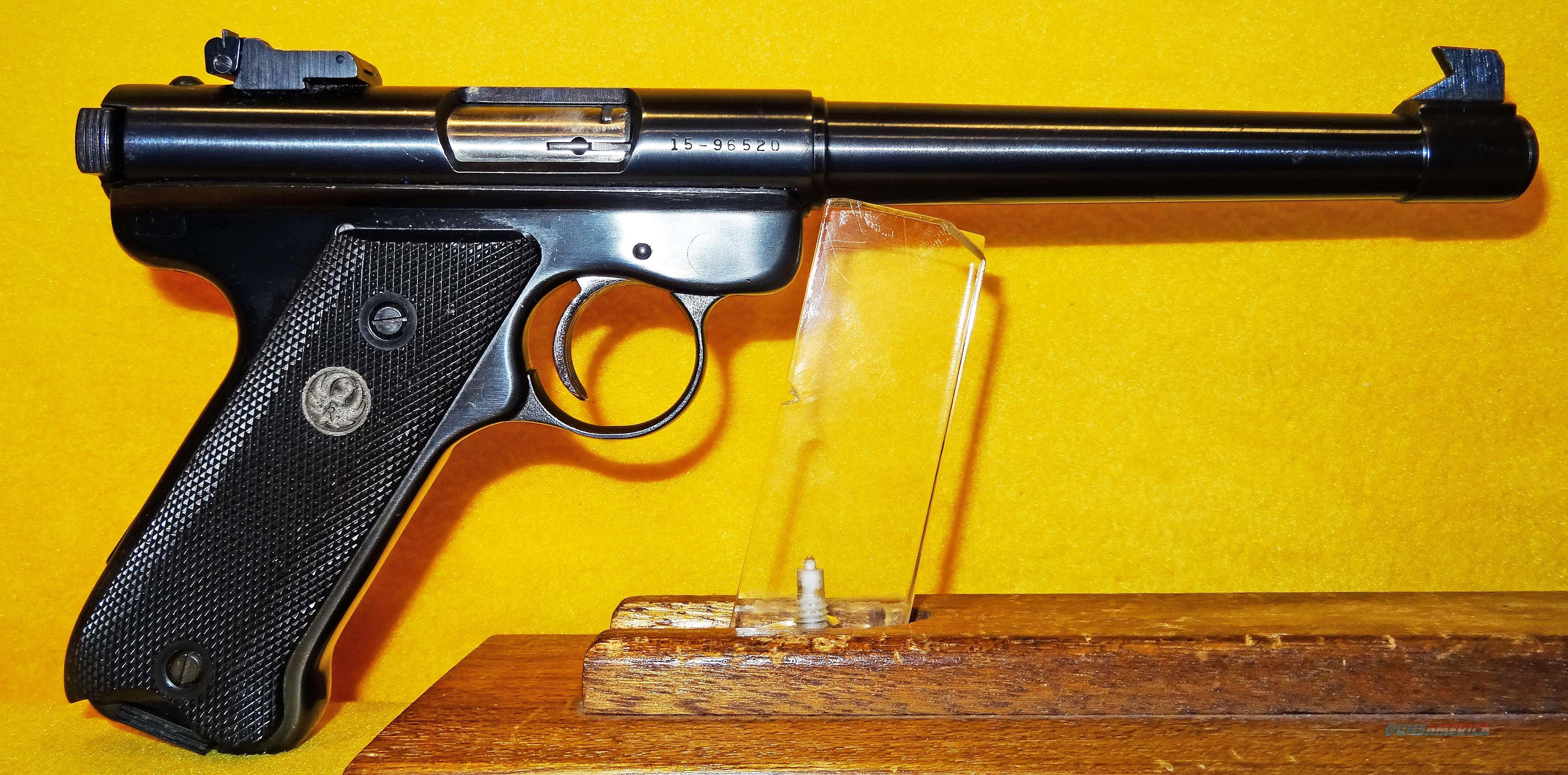 RUGER MKI TARGET  Guns > Pistols > Ruger Semi-Auto Pistols > Mark I/II/III/IV Family