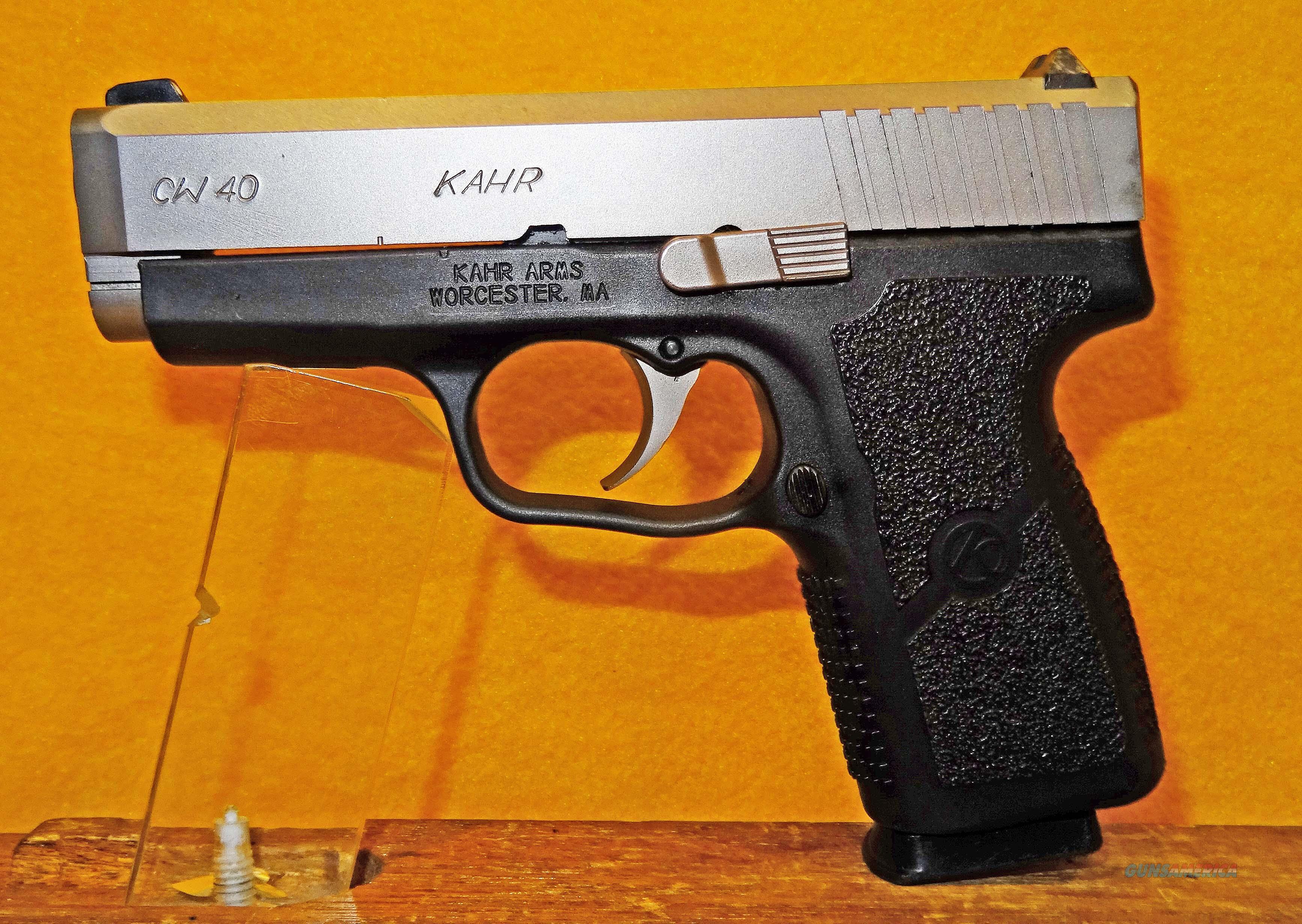KAHR CW40  Guns > Pistols > Kahr Pistols
