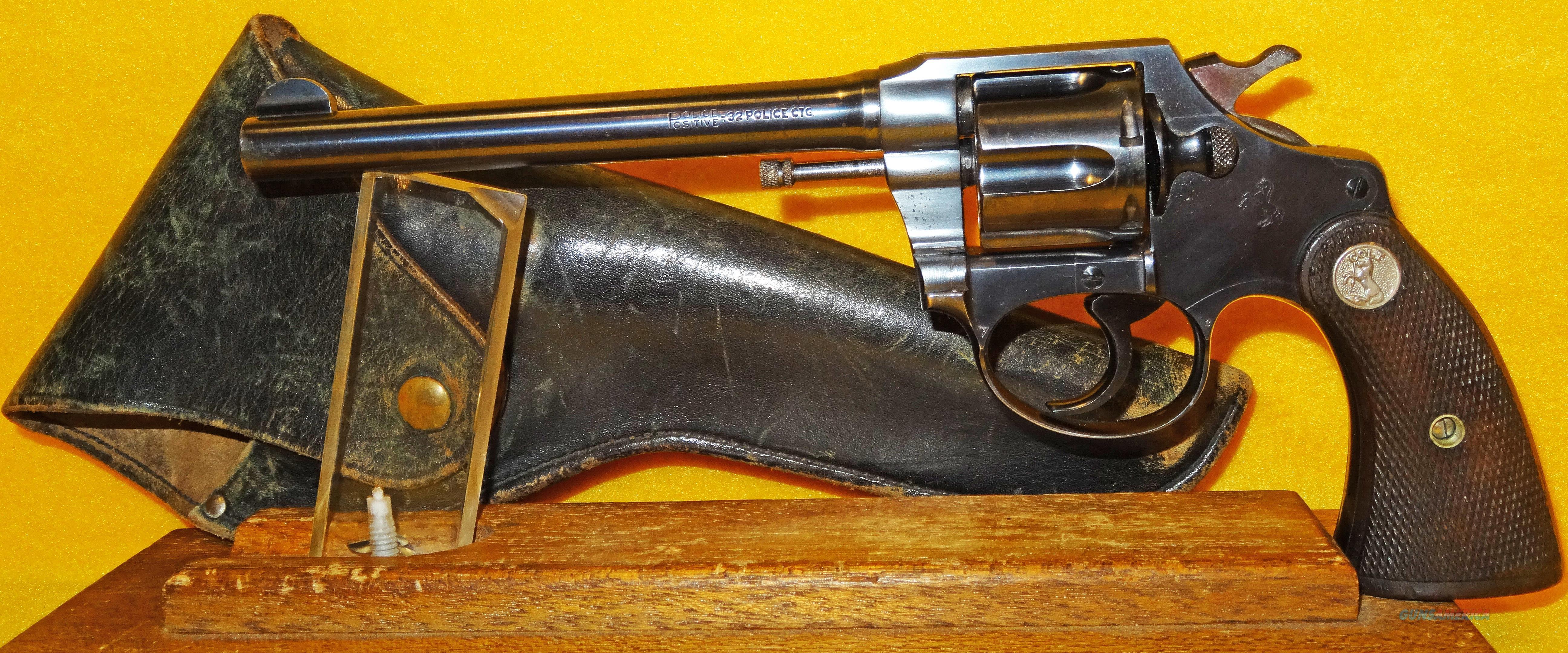 COLT POLICE POSITIVE  Guns > Pistols > Colt Double Action Revolvers- Pre-1945