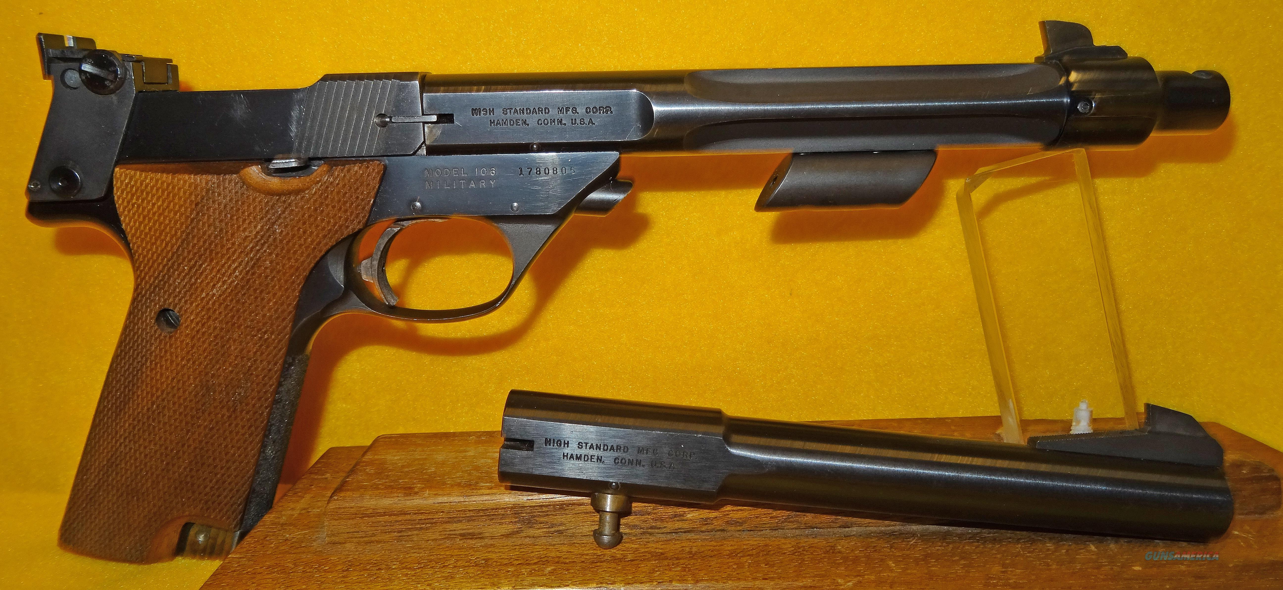 HI-STANDARD SUPERMATIC CITATION MODEL 106 MILITARY  Guns > Pistols > High Standard Pistols