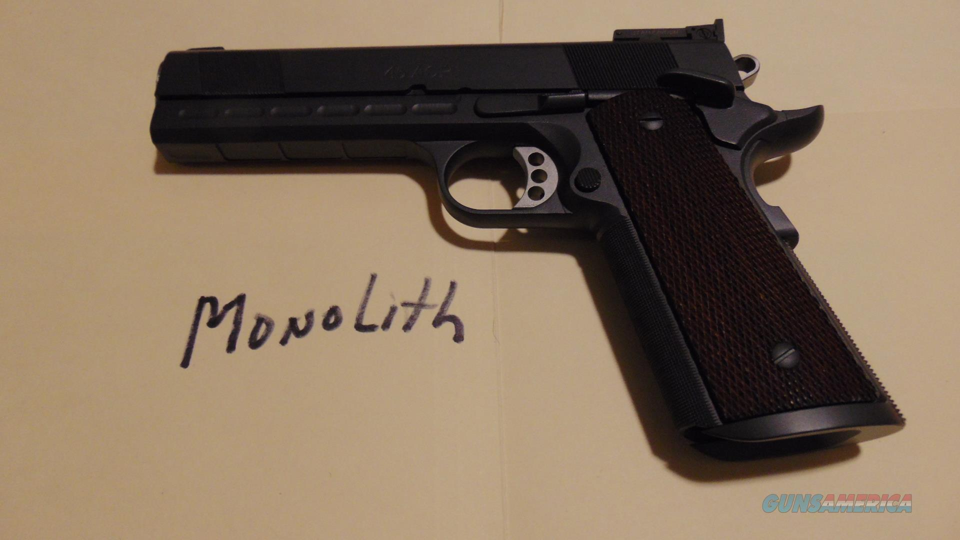 les baer monolith 45,,,,,,,,,,,,,,lowest cost/best condition here  Guns > Pistols > Les Baer Pistols